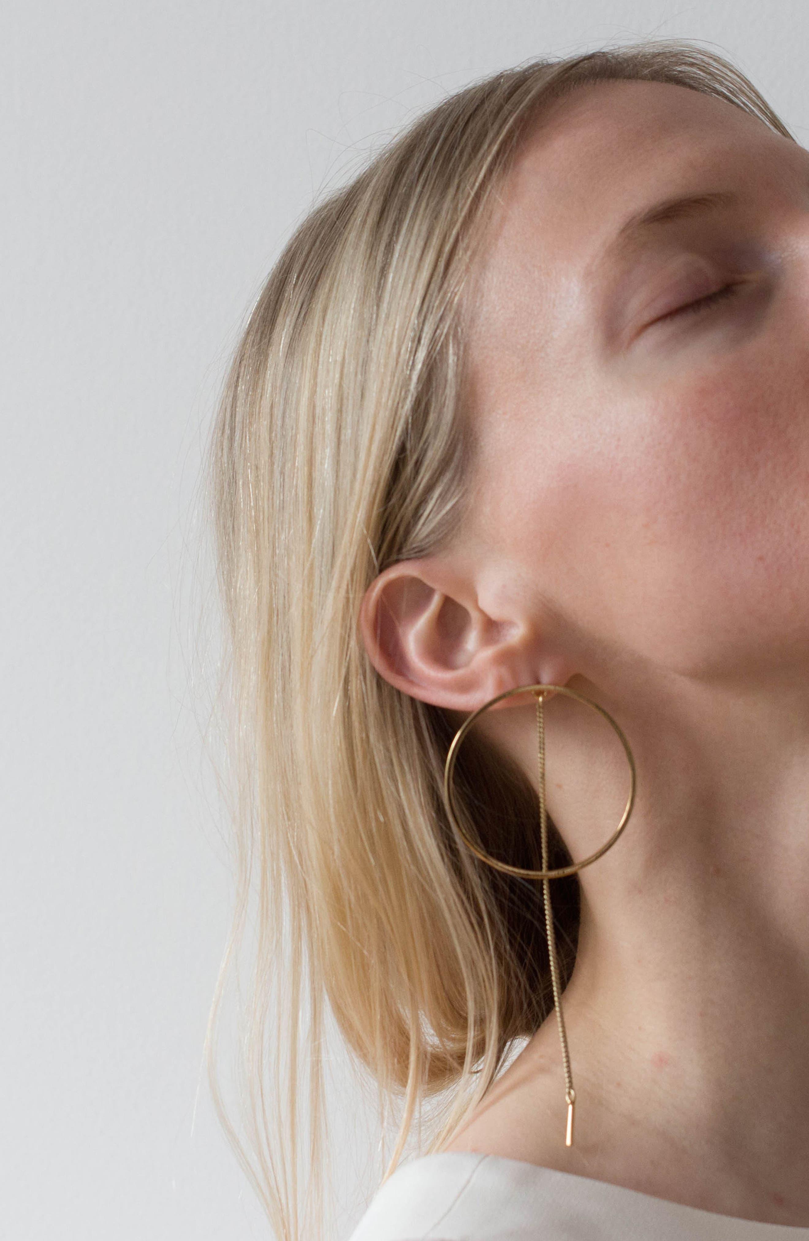 Rhine Frontal Hoop Earrings,                             Alternate thumbnail 4, color,                             040