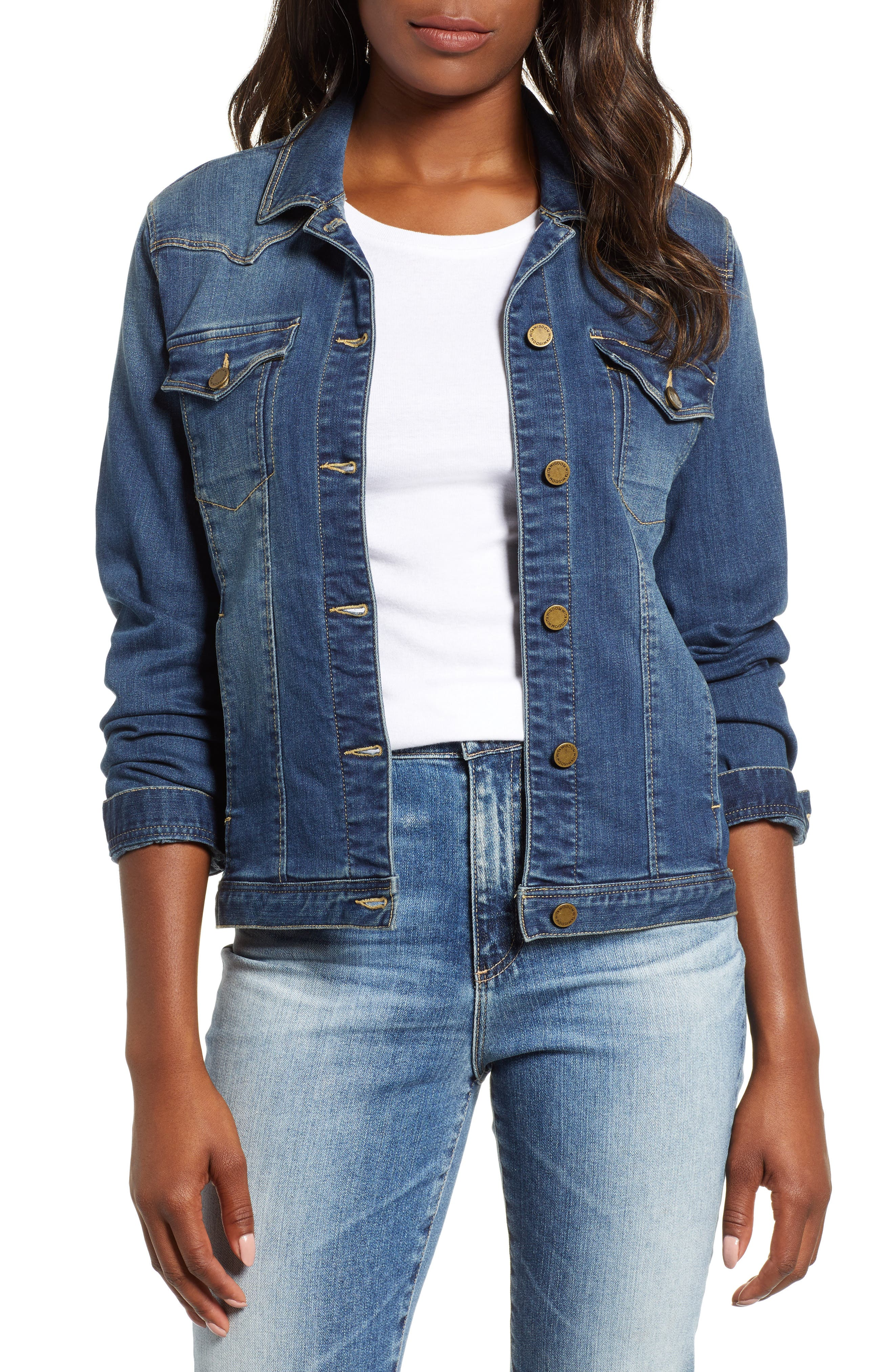 WIT & WISDOM Western Denim Jacket, Main, color, 420