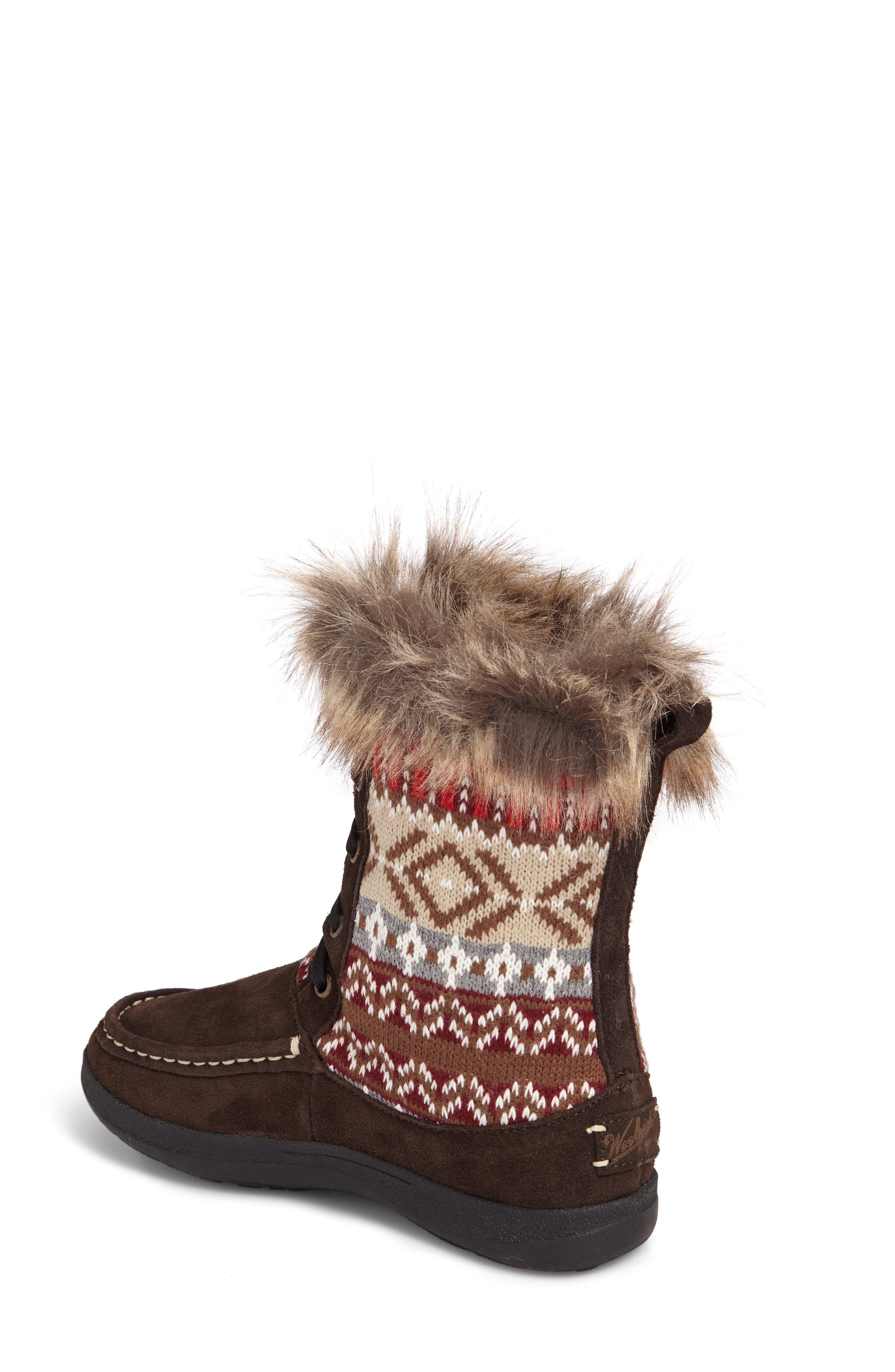 Doe Creek II Faux Fur Trim Boot,                             Alternate thumbnail 5, color,