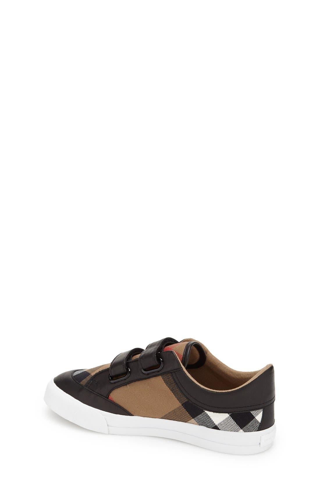 BURBERRY,                             Mini Heacham Sneaker,                             Alternate thumbnail 3, color,                             001