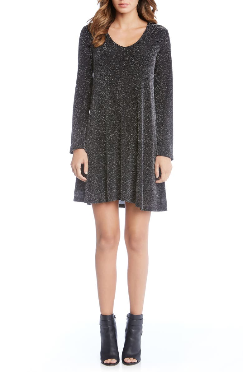 e1fc3e74b4 Karen Kane Sparkle Knit Shift Dress
