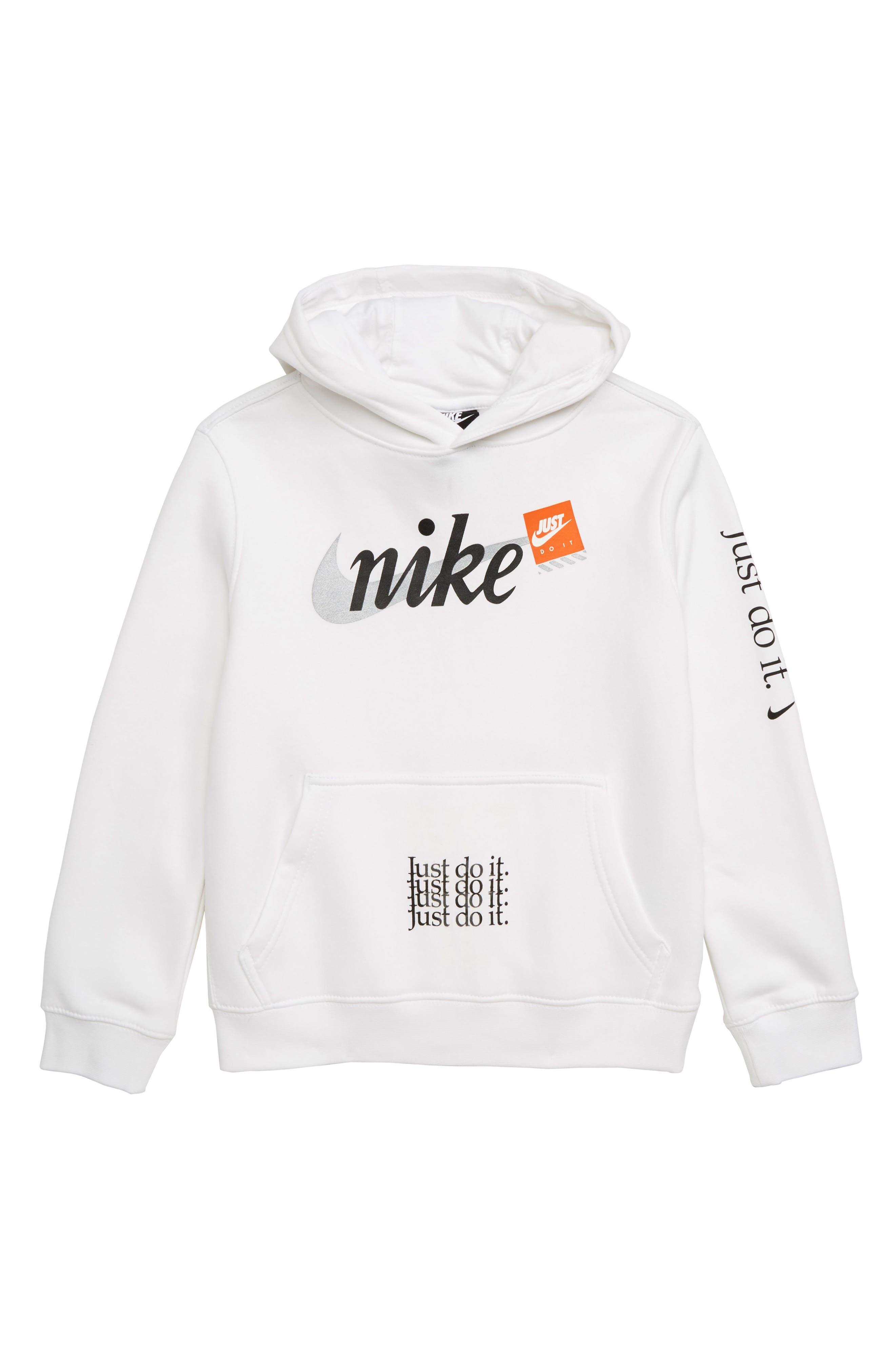 Boys Nike Just Do It Hooded Sweatshirt