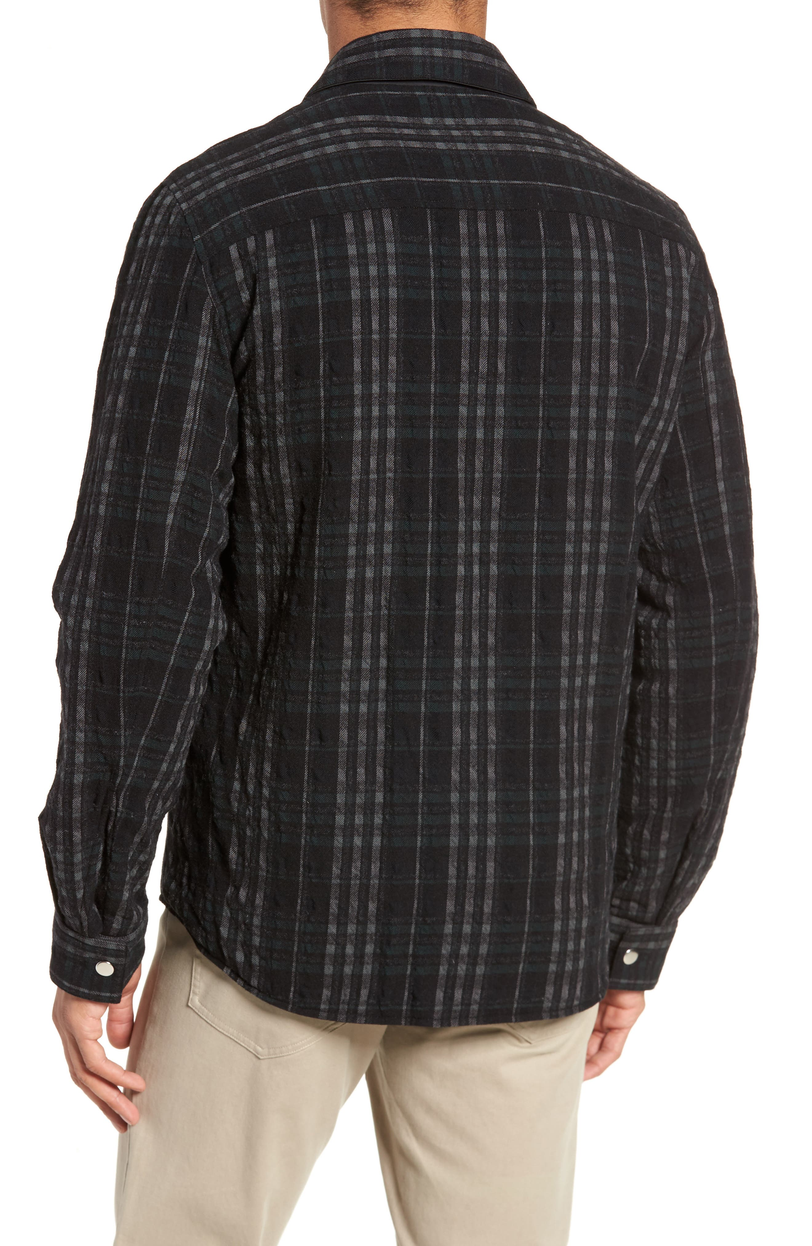 Wooly Reversible Zip Front Shirt Jacket,                             Alternate thumbnail 2, color,                             001