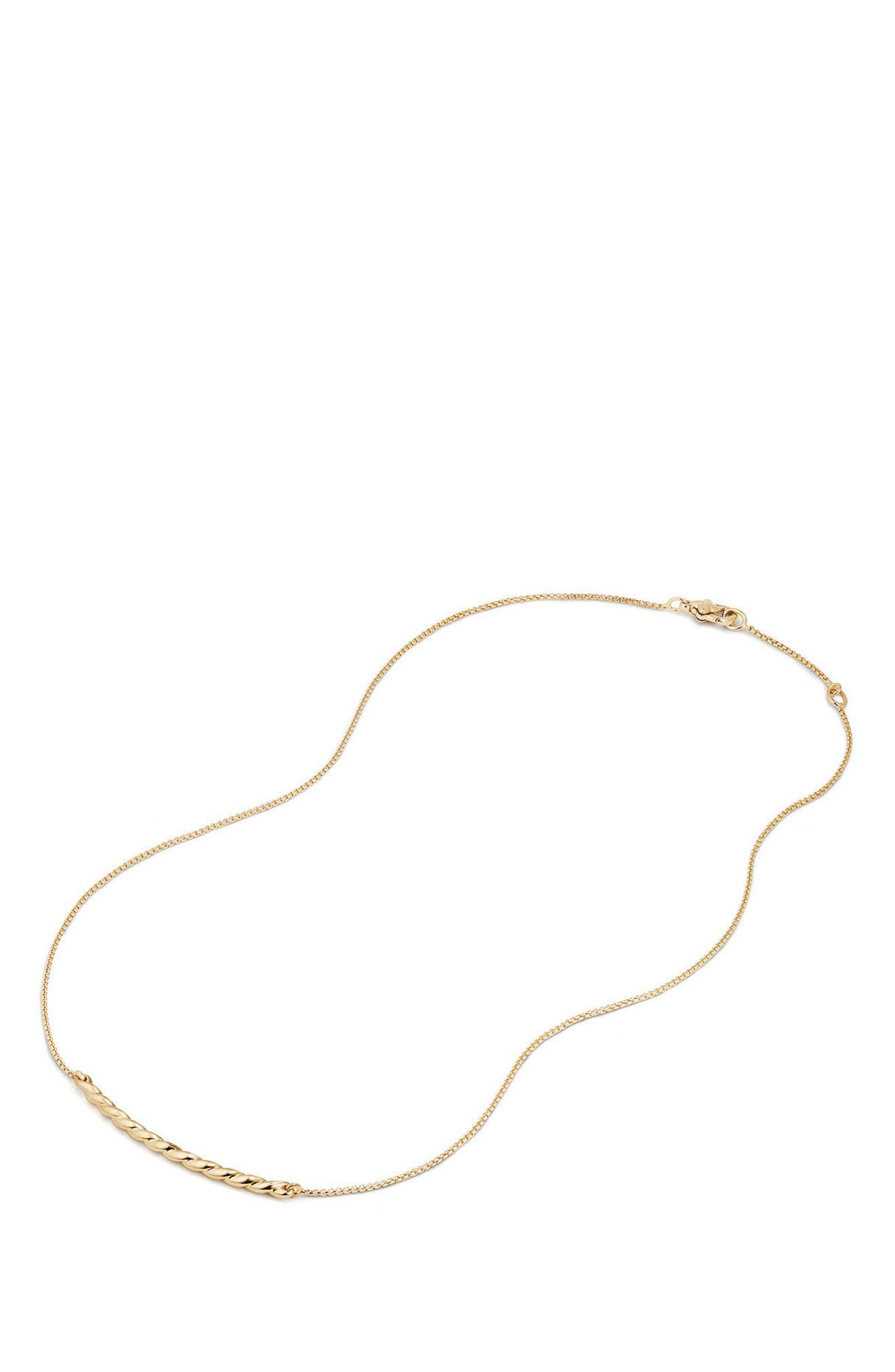 Paveflex Station Necklace in 18K Gold,                             Alternate thumbnail 2, color,                             YELLOW GOLD