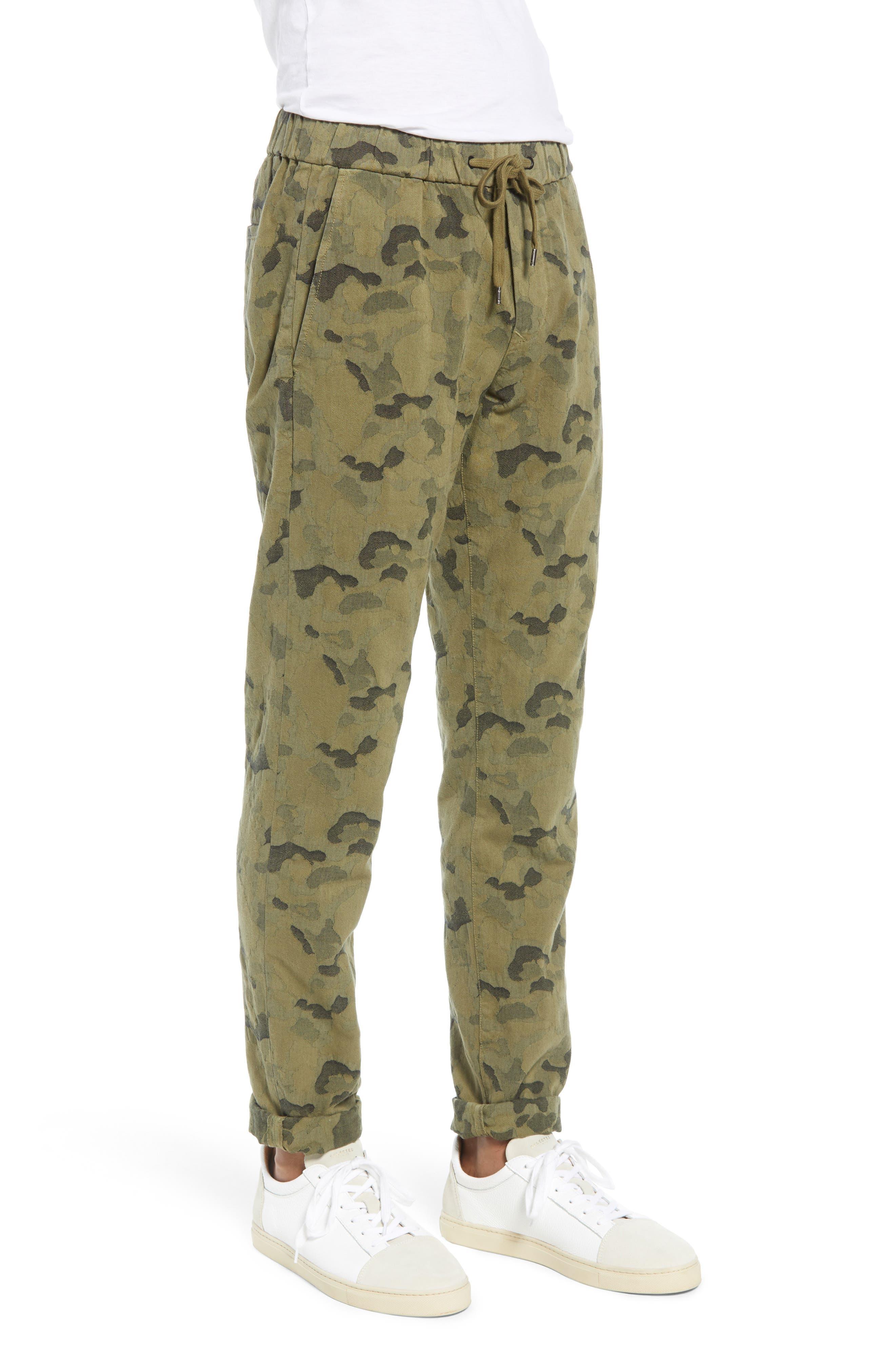 Camo Jacquard Slim Pants,                             Alternate thumbnail 3, color,                             SPRIG