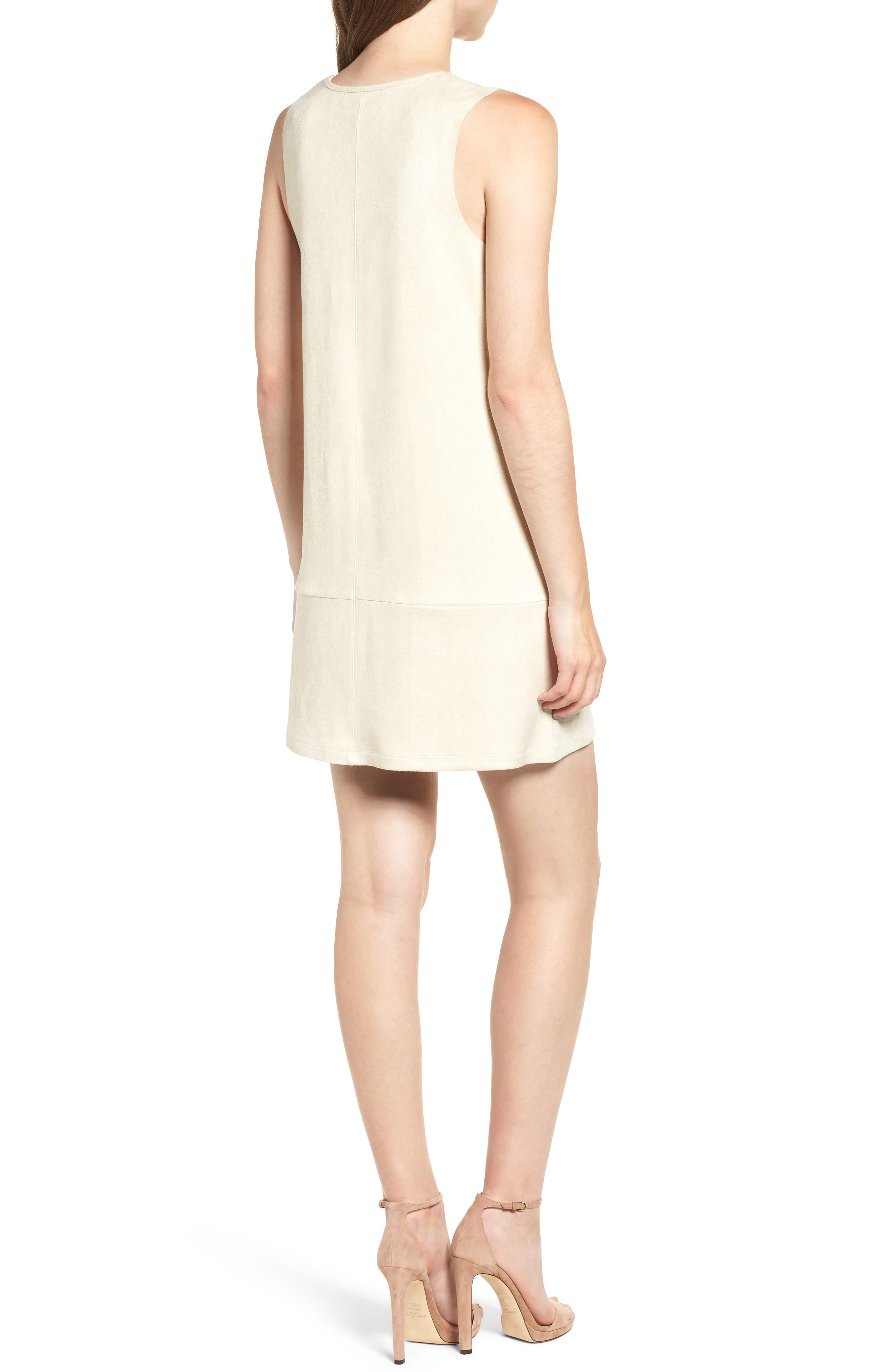Sueded Sleeveless Shift Dress,                             Alternate thumbnail 2, color,                             251