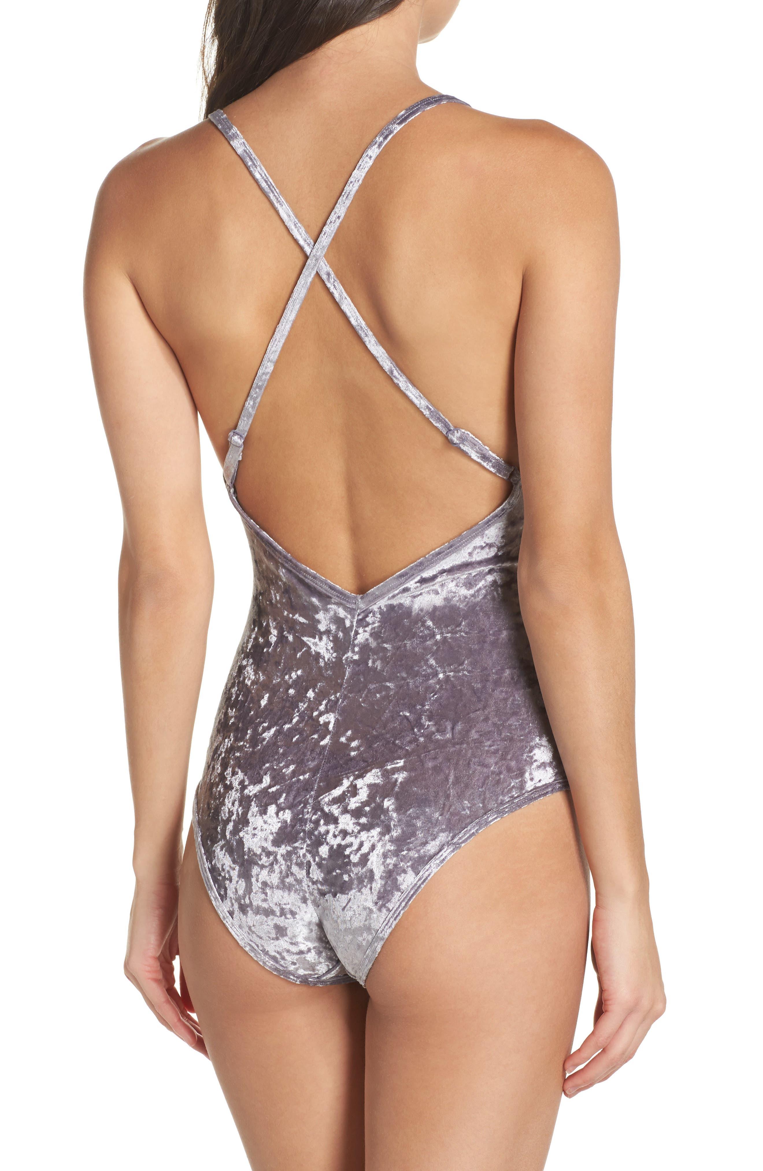 Crushed Velvet Bodysuit,                             Alternate thumbnail 2, color,                             040