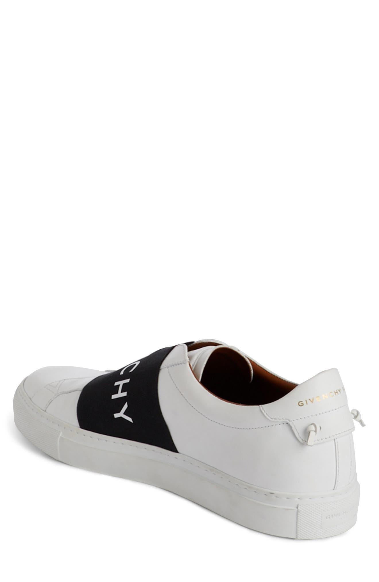 Logo Strap Slip-On Sneaker,                             Alternate thumbnail 2, color,                             WHITE/ BLACK