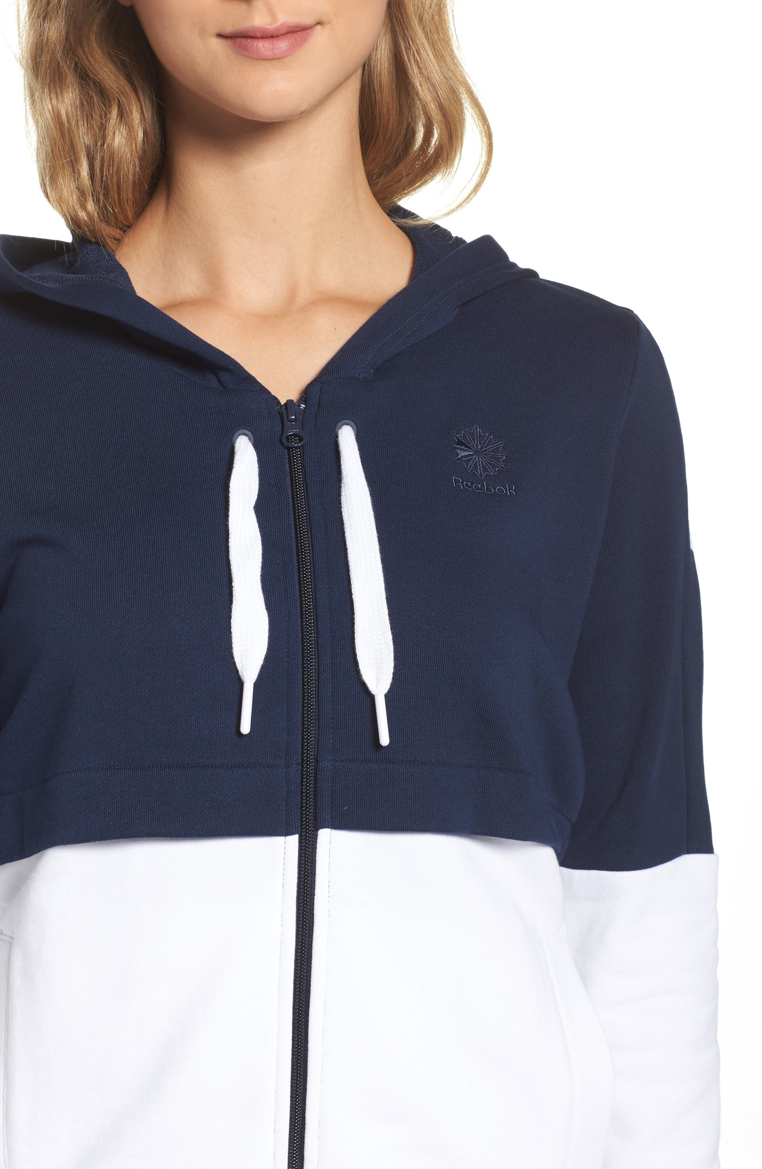 Colorblock French Terry Zip Hoodie,                             Alternate thumbnail 4, color,                             408