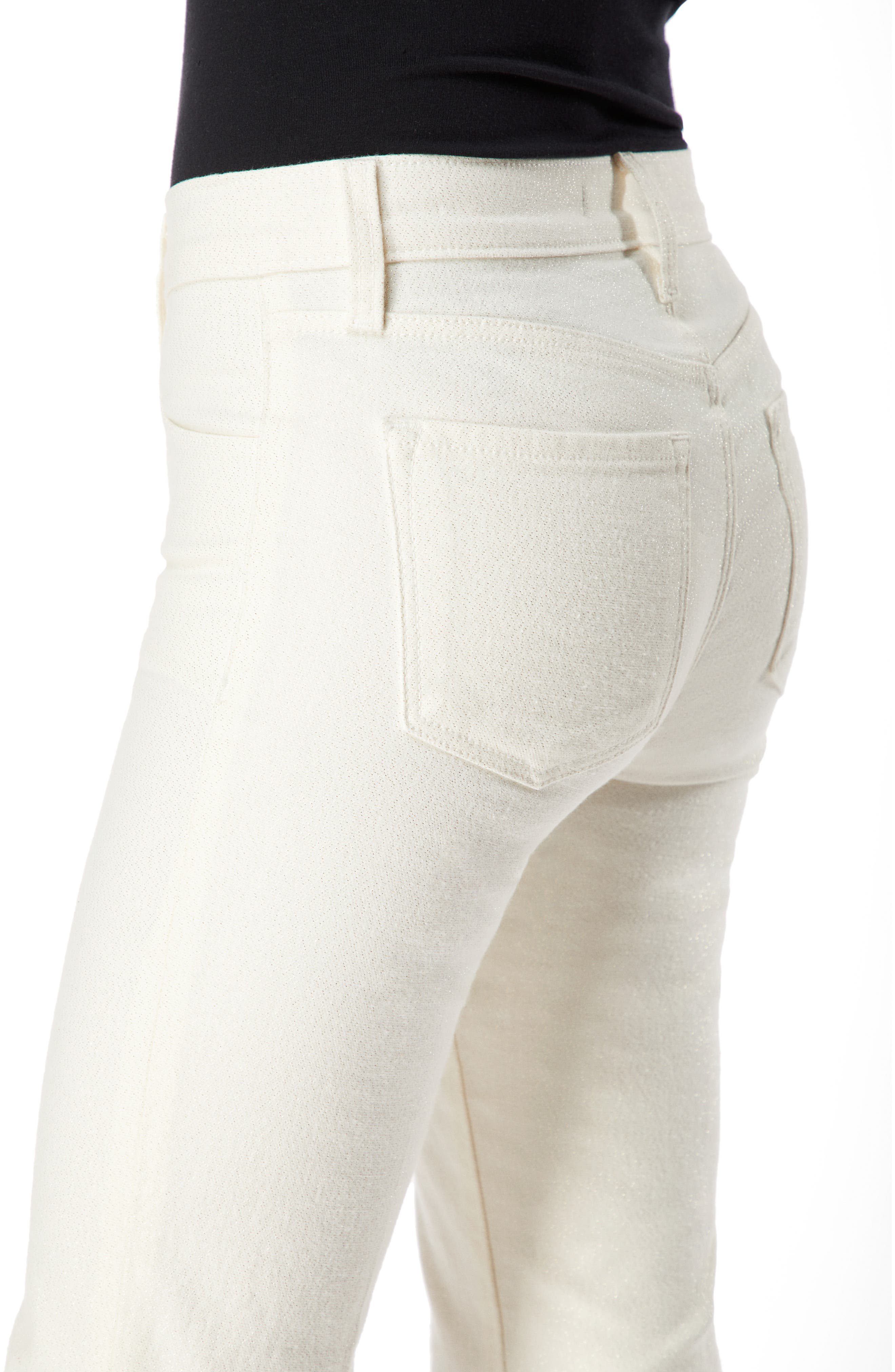 Selena Crop Bootcut Jeans,                             Alternate thumbnail 5, color,                             GLIMMER