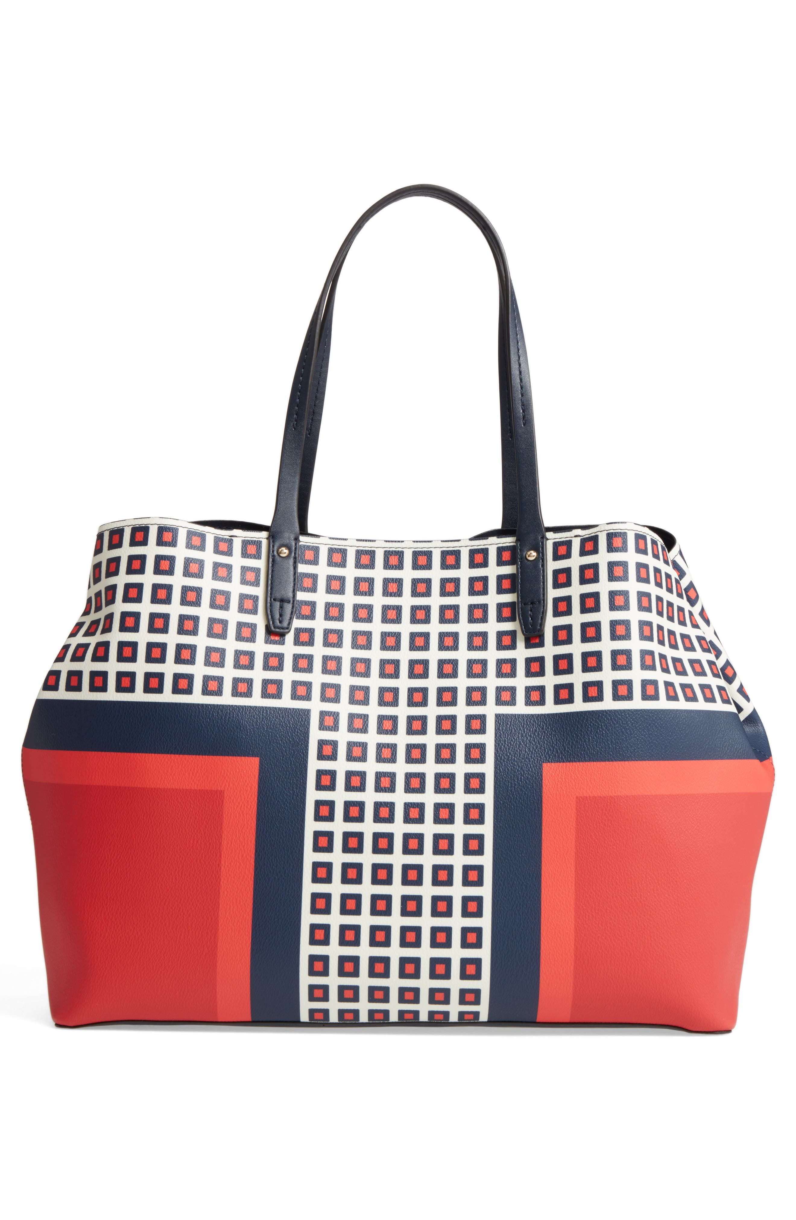TORY BURCH,                             Kerrington Coated Canvas Tote,                             Alternate thumbnail 3, color,                             800