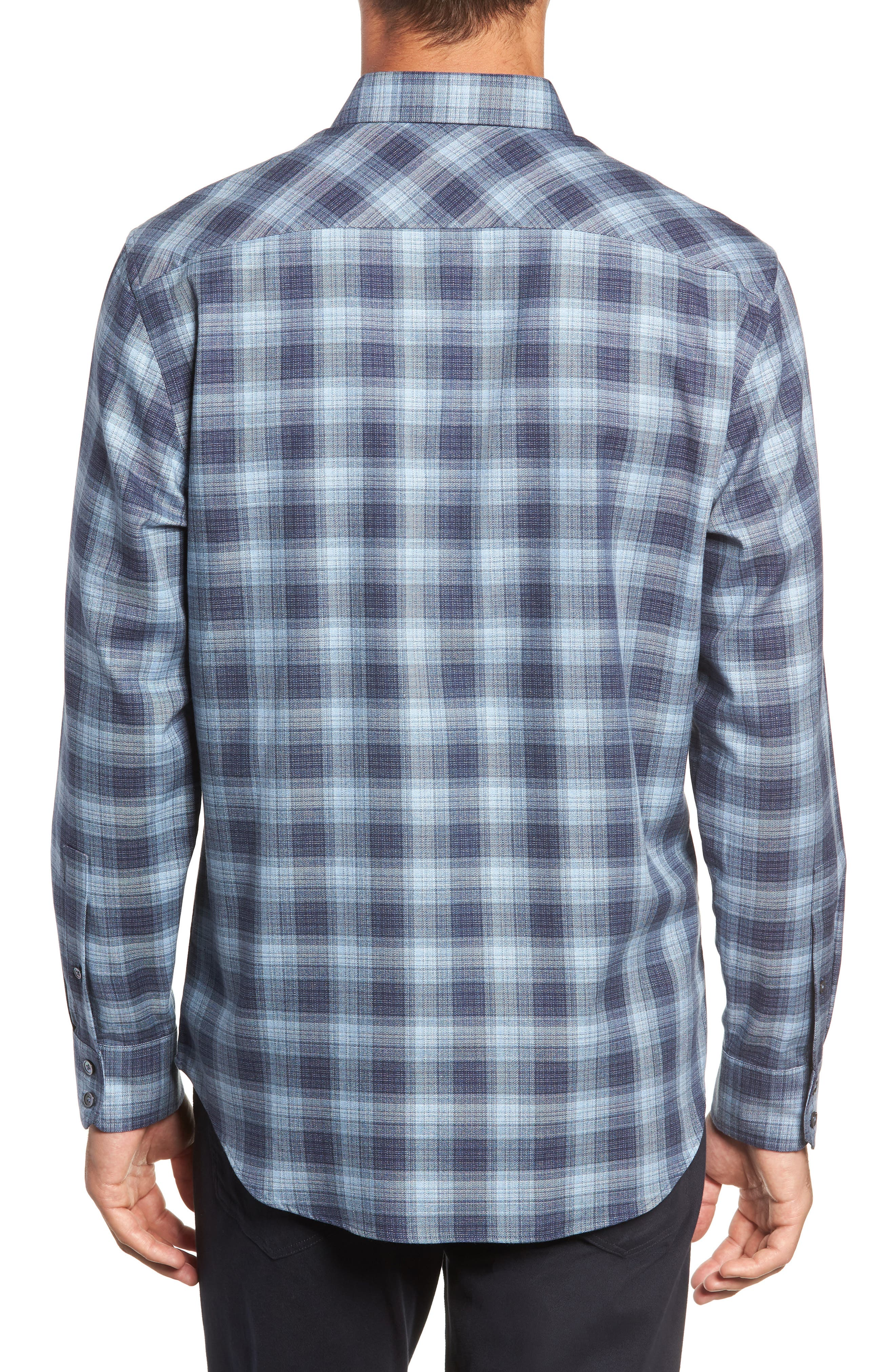 Oris Regular Fit Check Sport Shirt,                             Alternate thumbnail 3, color,                             BLUE