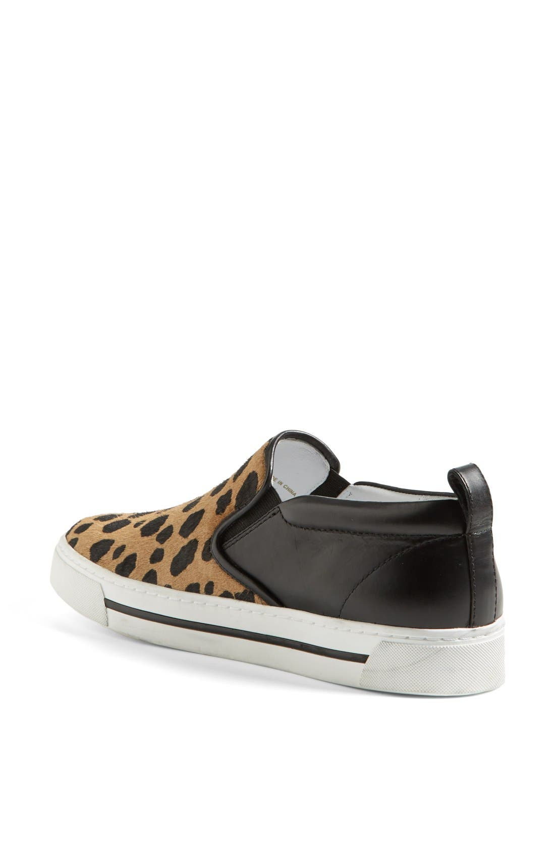 MARC BY MARC JACOBS Leather & Calf Hair Slip-On Sneaker,                             Alternate thumbnail 2, color,