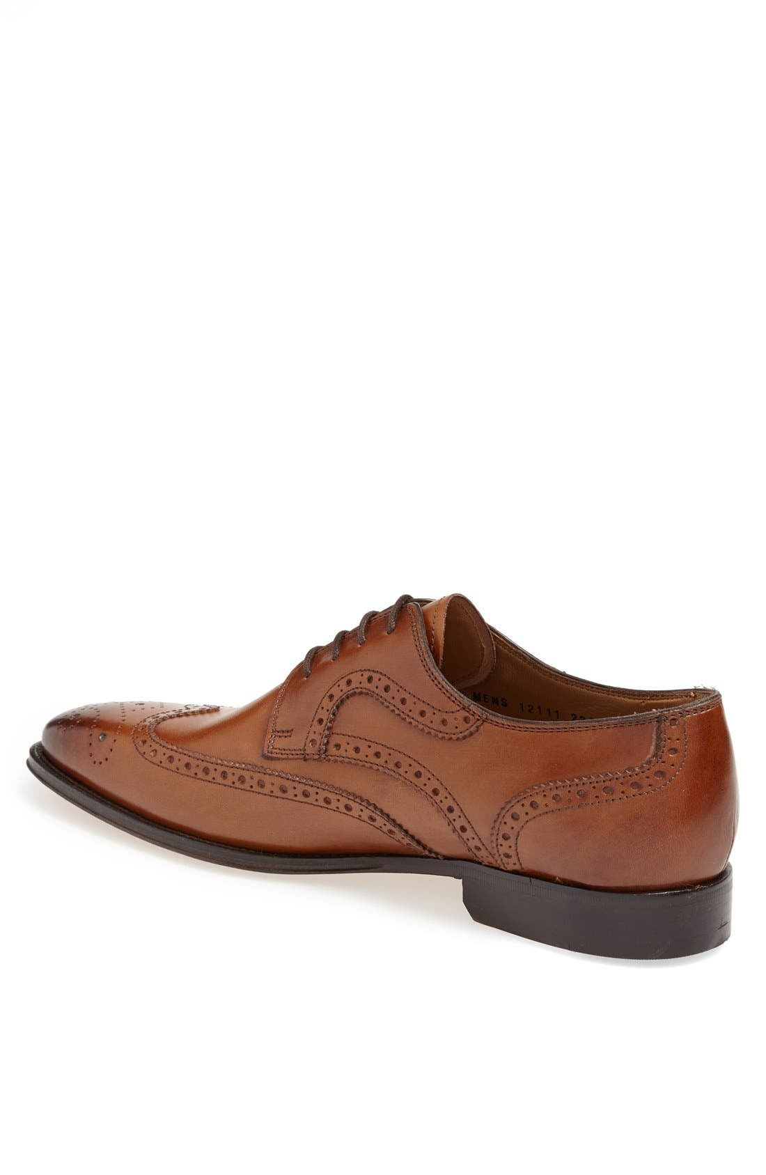 'Classico' Wingtip,                             Alternate thumbnail 2, color,                             COGNAC