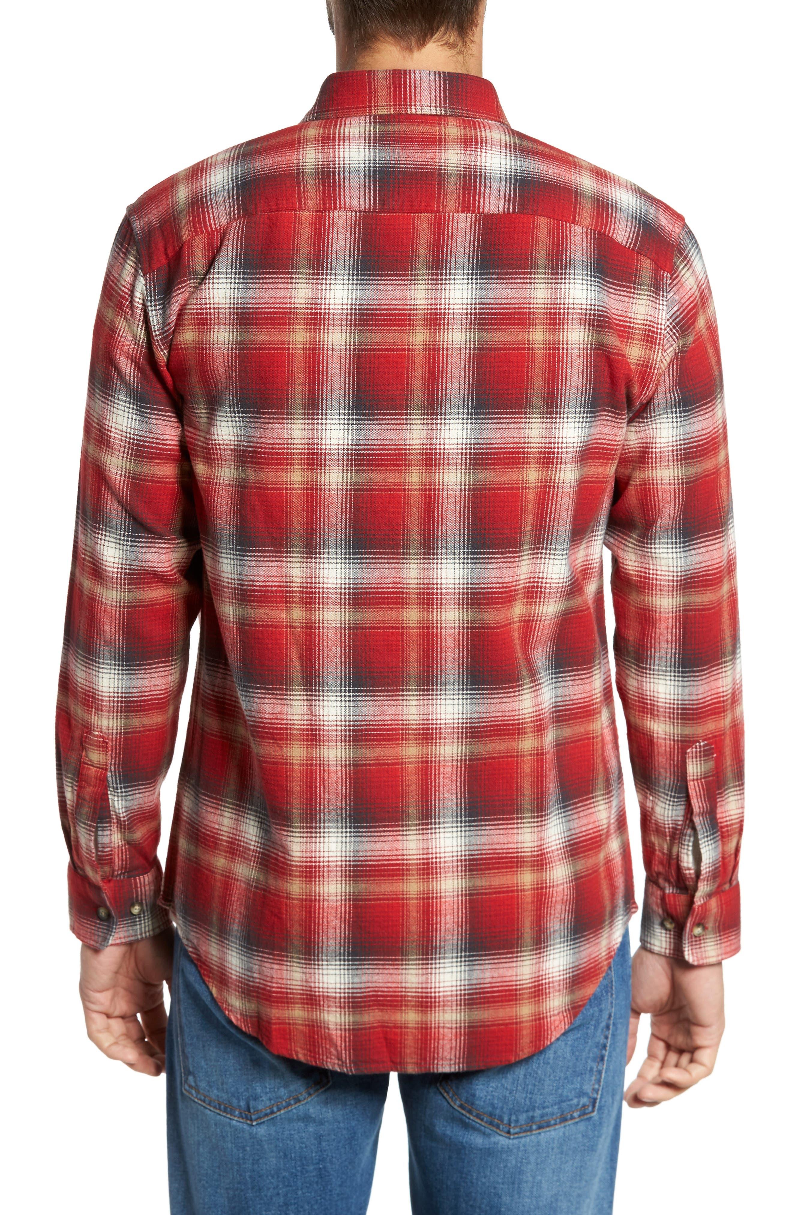 Lister Ombré Plaid Sport Shirt,                             Alternate thumbnail 4, color,