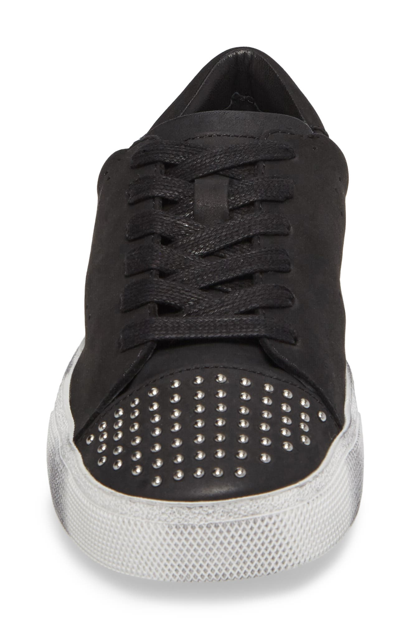 Catcall Studded Sneaker,                             Alternate thumbnail 4, color,                             002
