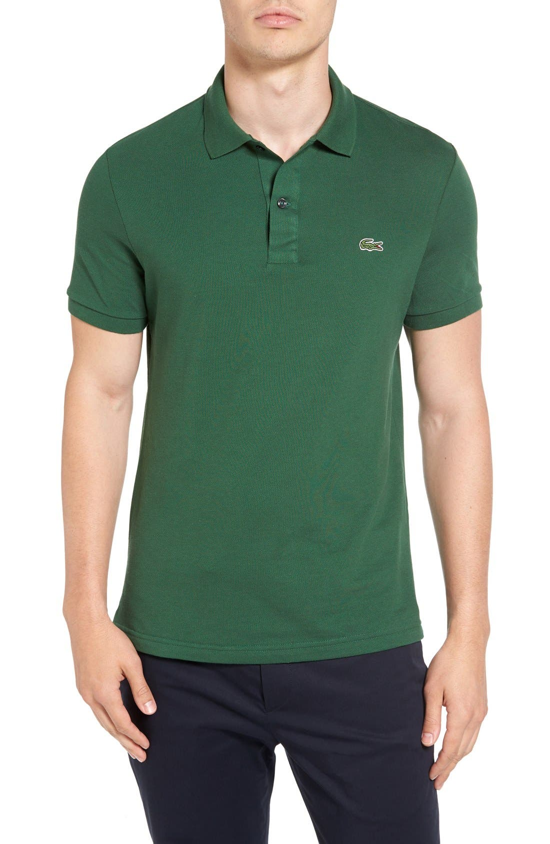 Slim Fit Piqué Polo,                             Main thumbnail 3, color,