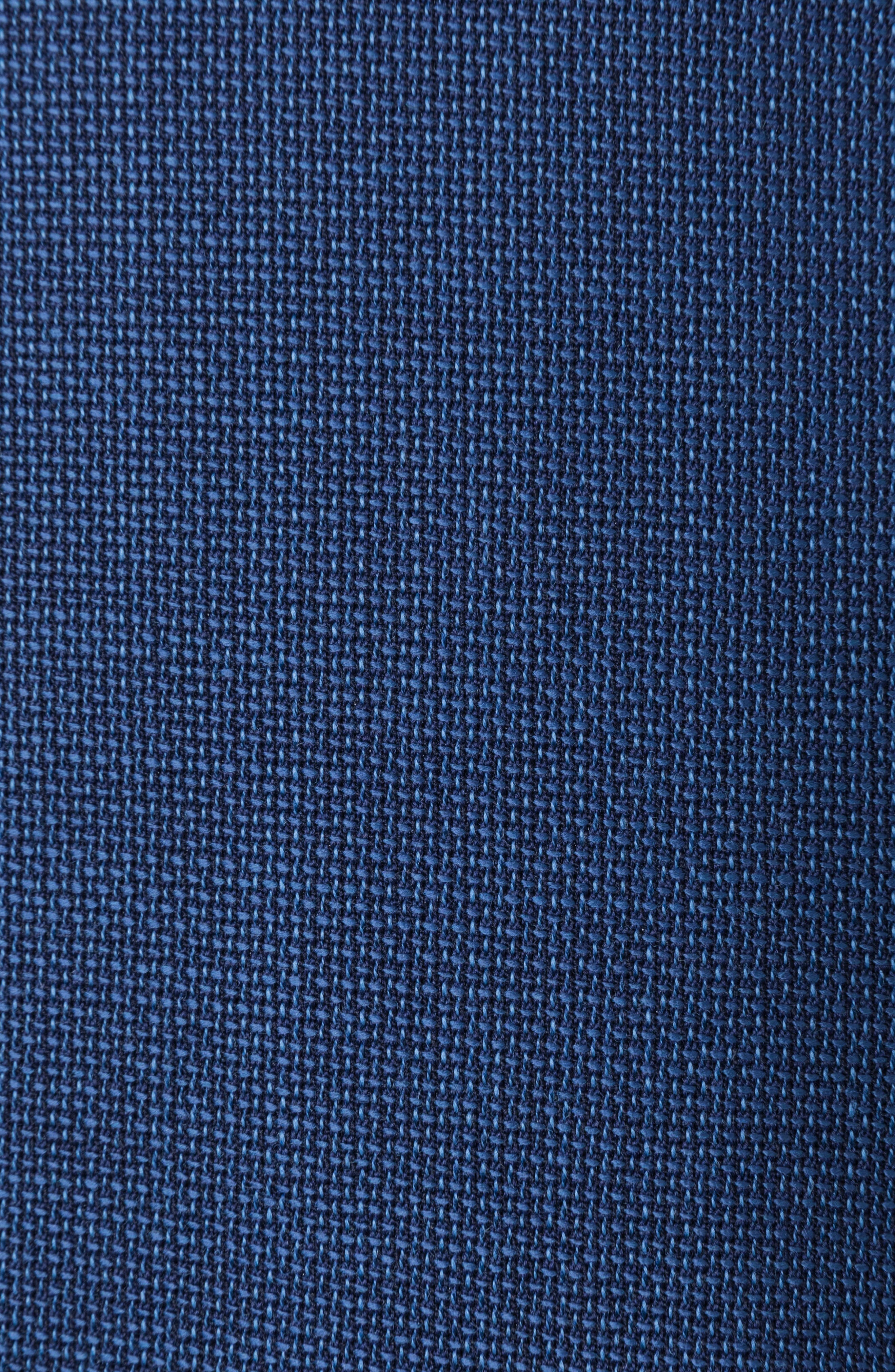 Newbridge Regular Fit Stretch Wool Blazer,                             Alternate thumbnail 4, color,                             ECLIPSE