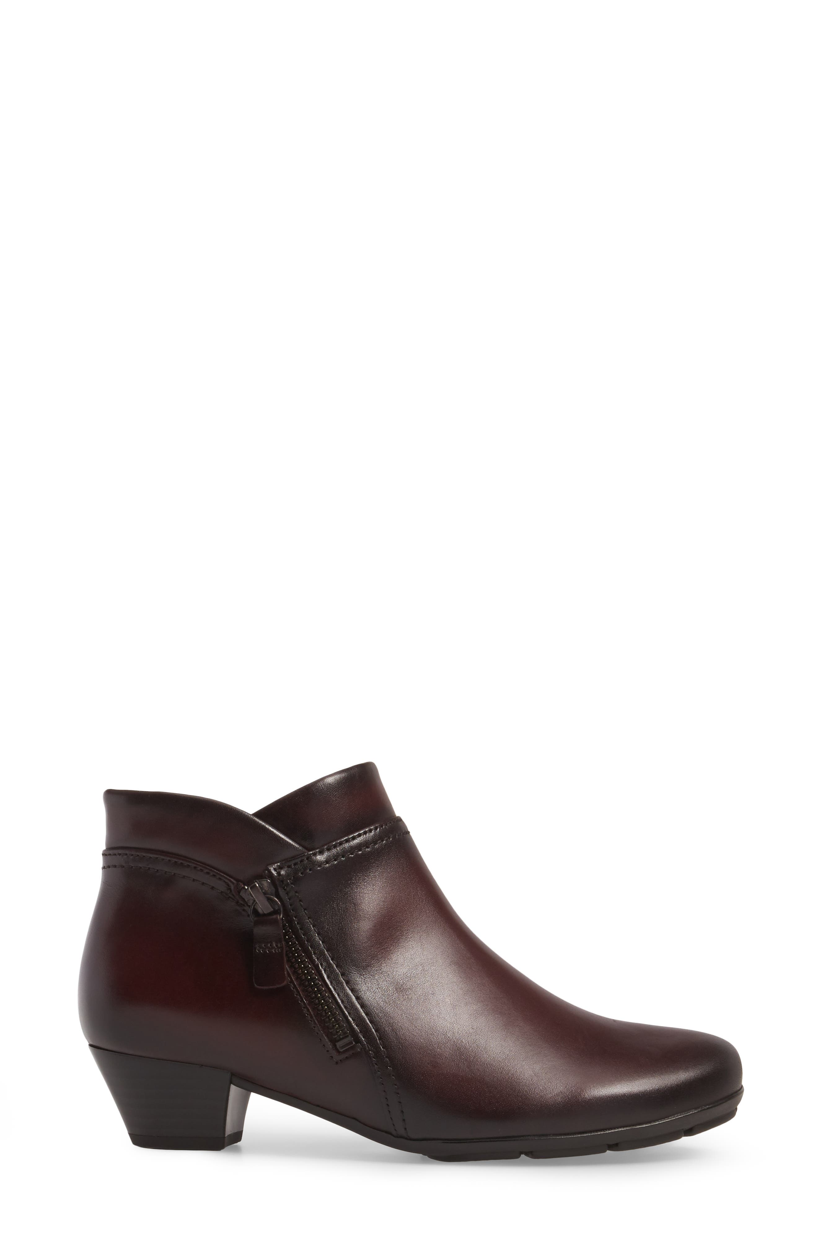Classic Ankle Boot,                             Alternate thumbnail 3, color,                             WINE LEATHER