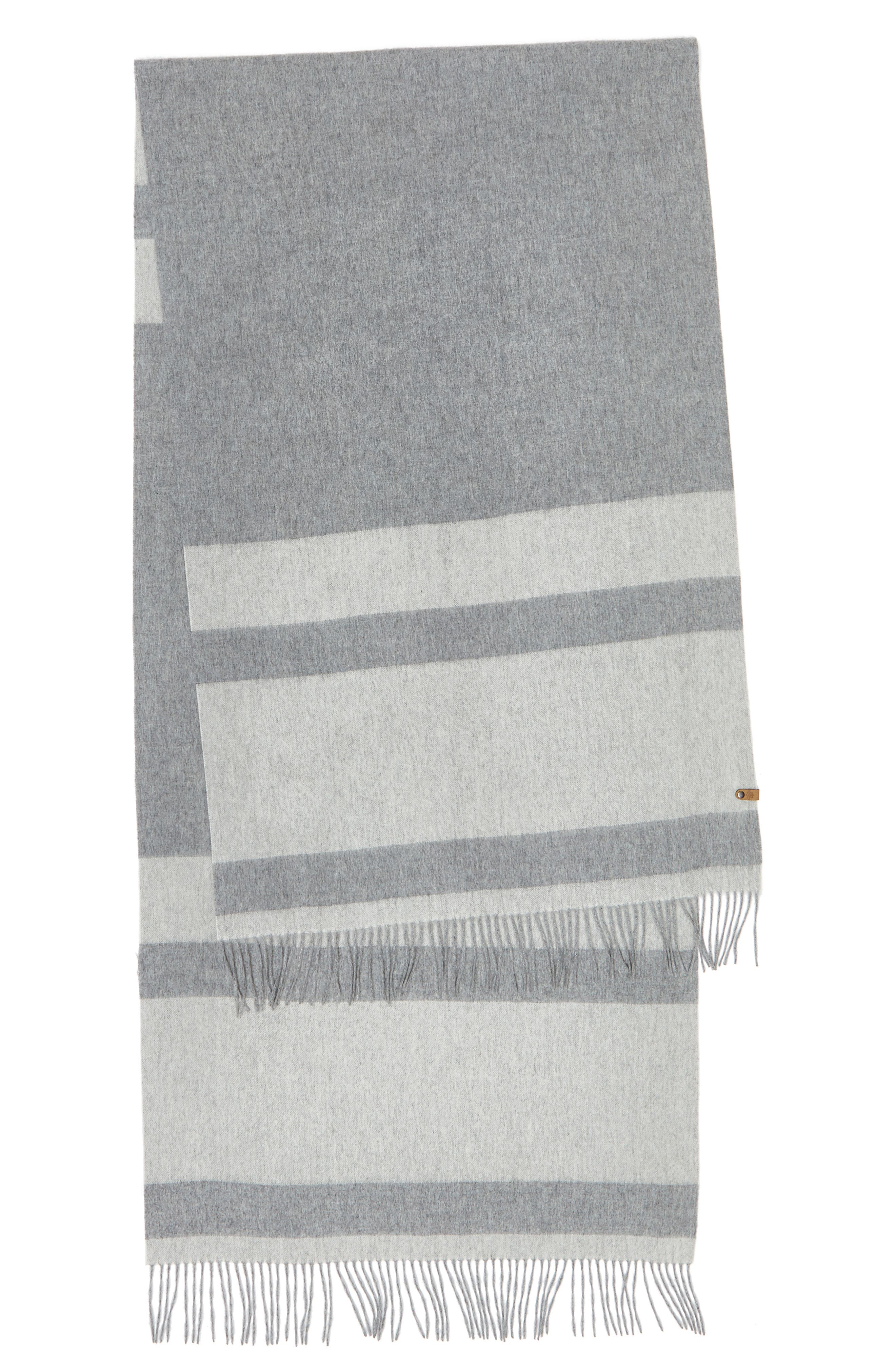 Lazio Stripe Wool Scarf,                             Alternate thumbnail 3, color,                             020