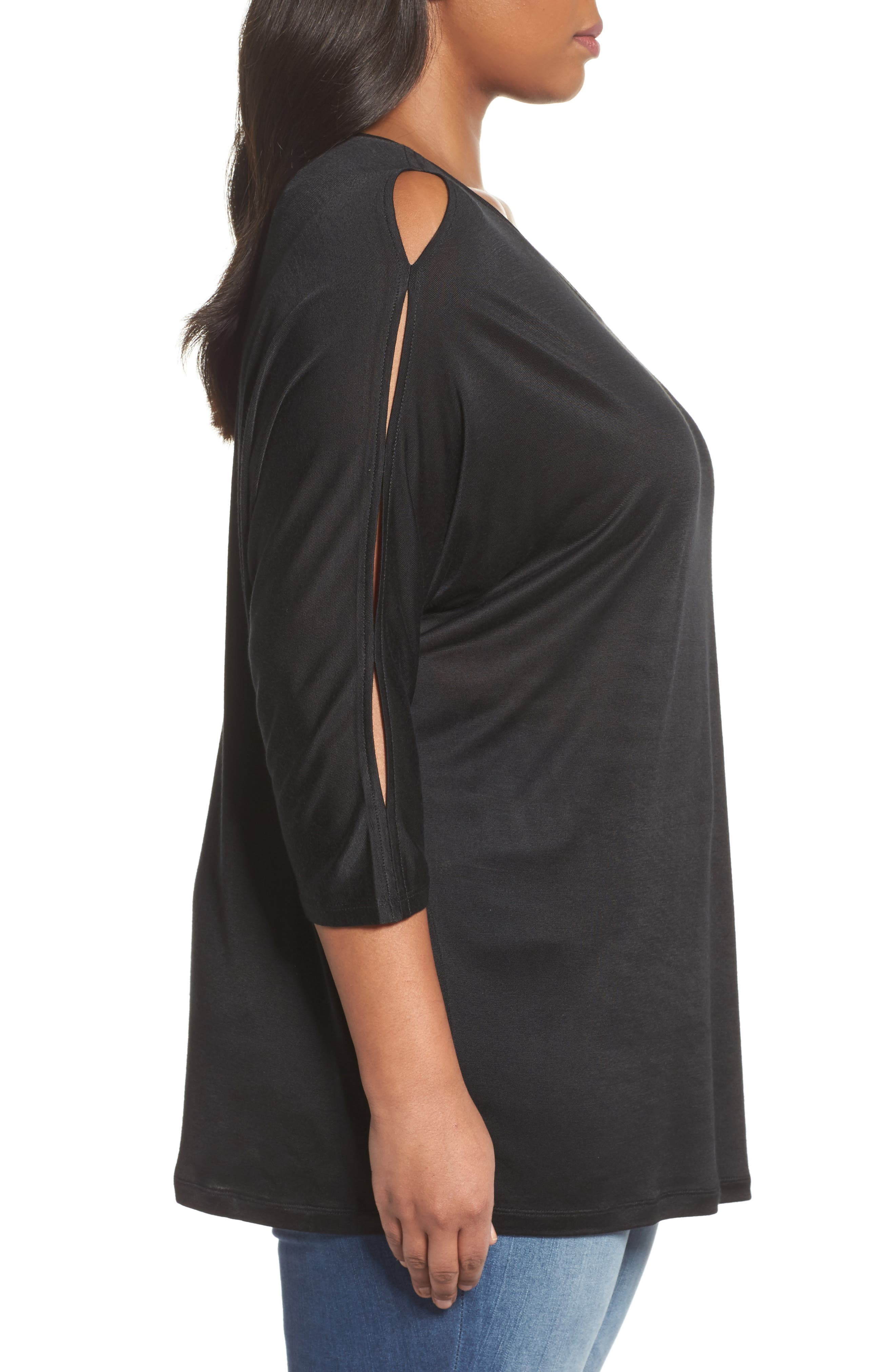 Slit Sleeve Top,                             Alternate thumbnail 10, color,