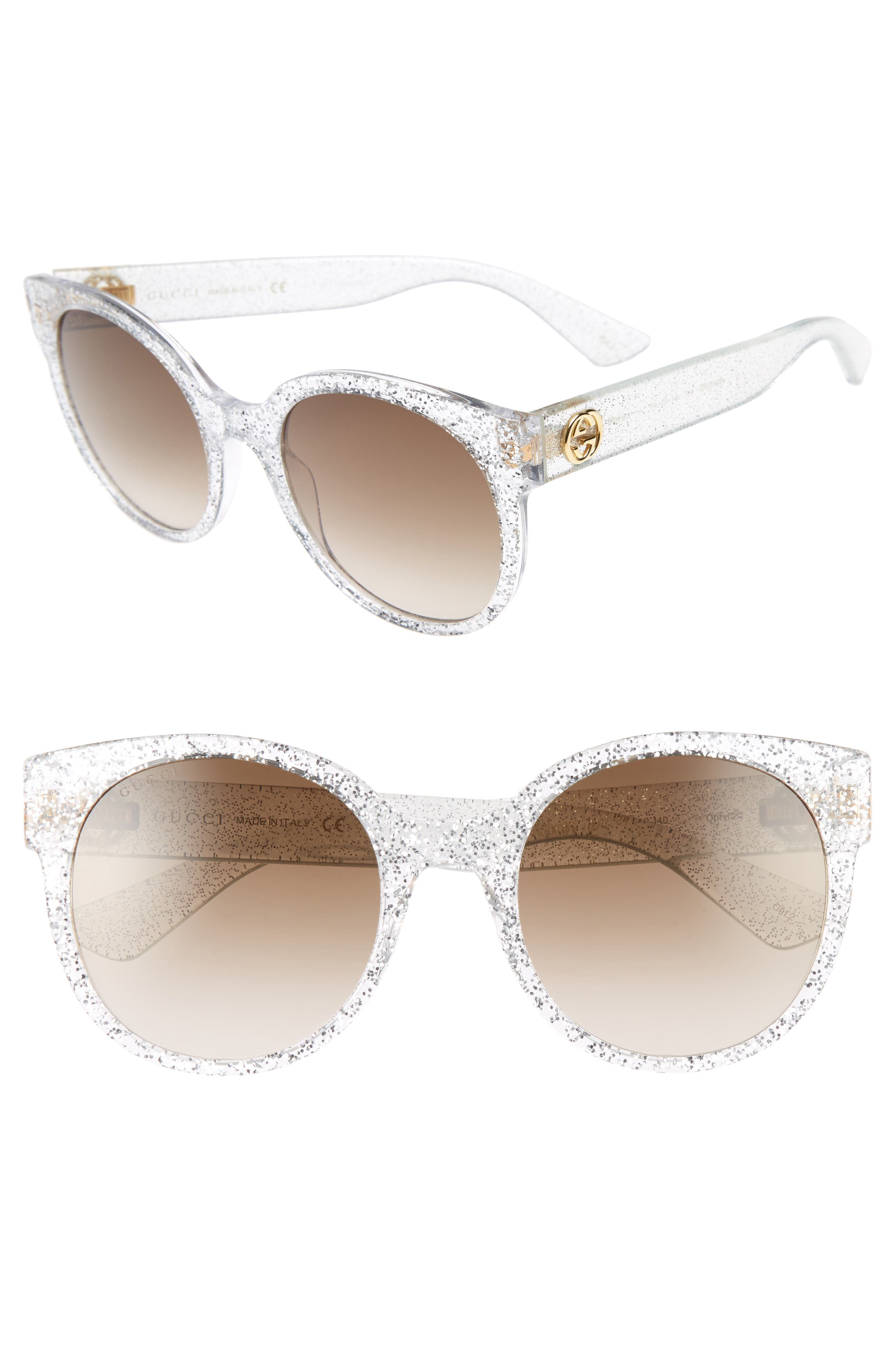 54mm Glitter Sunglasses,                             Main thumbnail 1, color,                             040