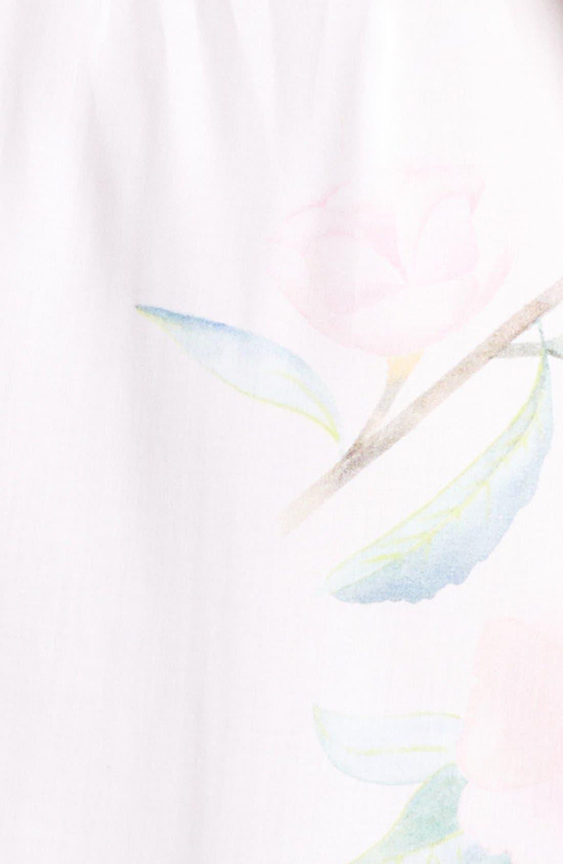 Oracle Floral Print Kimono Robe,                             Alternate thumbnail 5, color,                             650