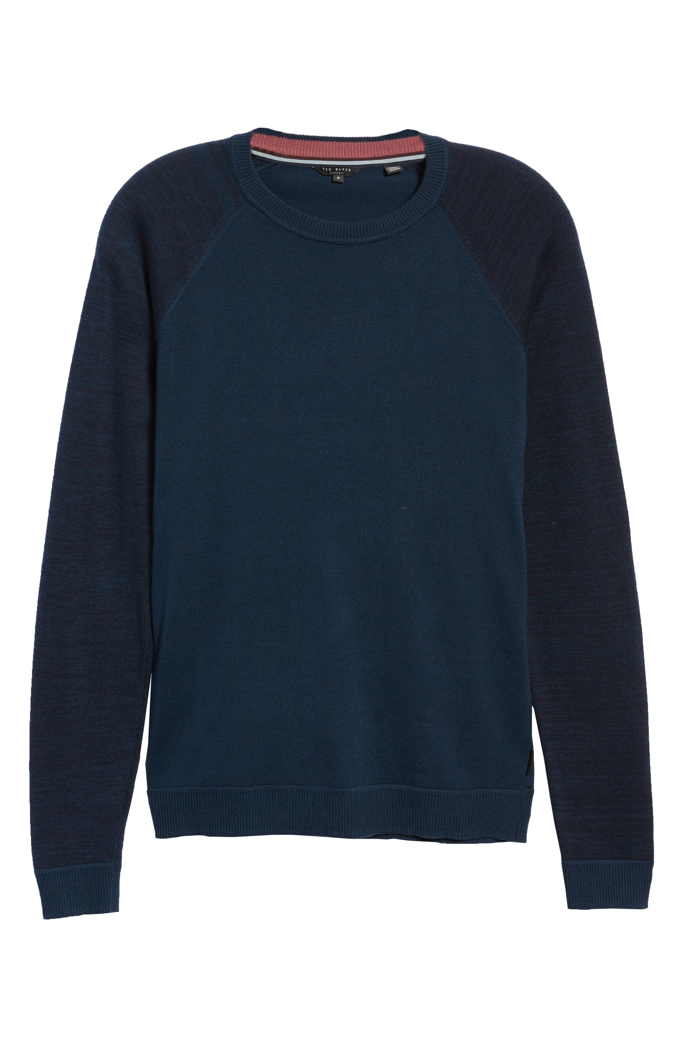 Cornfed Slim Fit Sweater,                             Alternate thumbnail 6, color,                             TEAL-BLUE