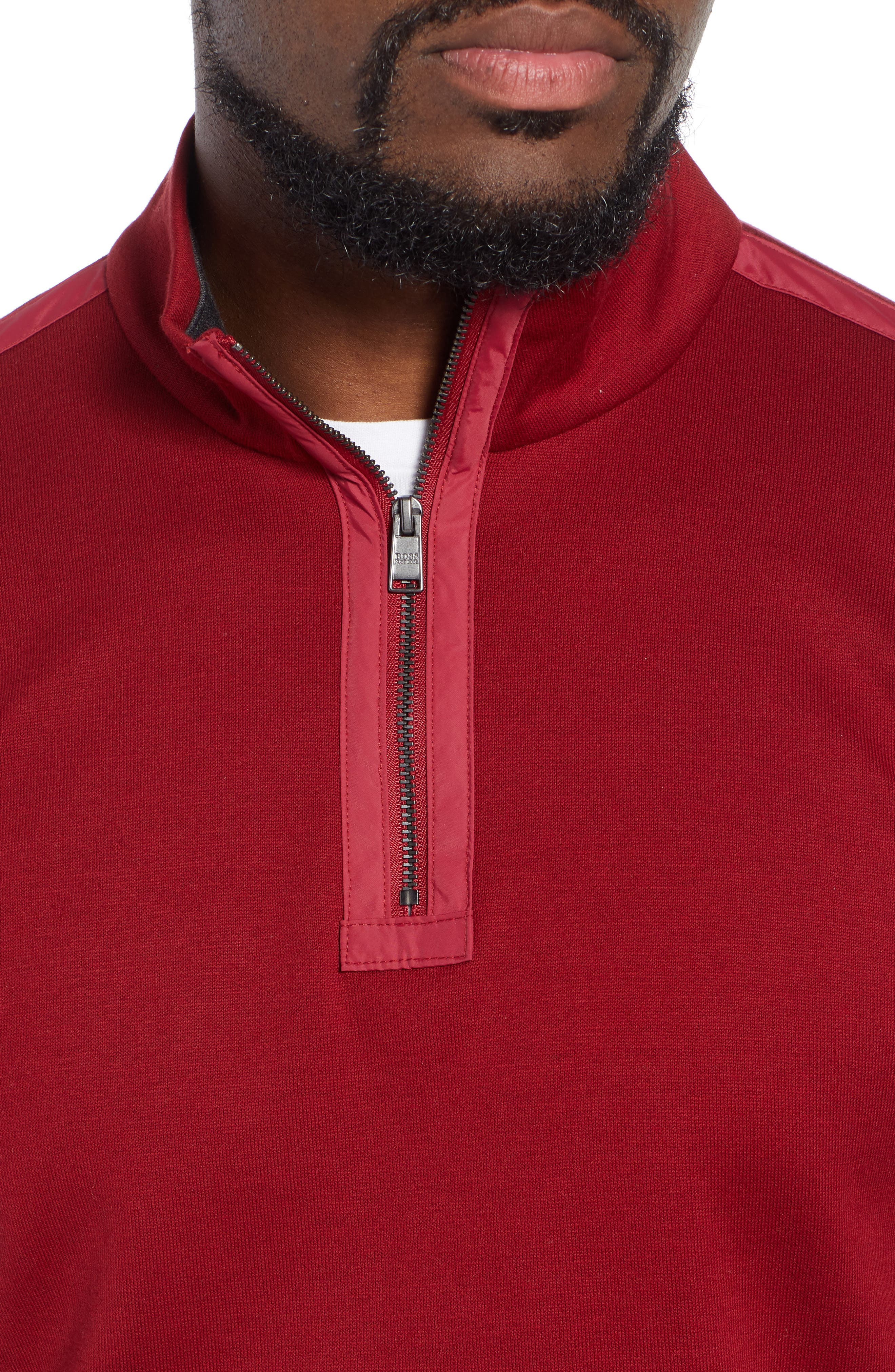 Sidney Quarter Zip Pullover,                             Alternate thumbnail 4, color,                             RED