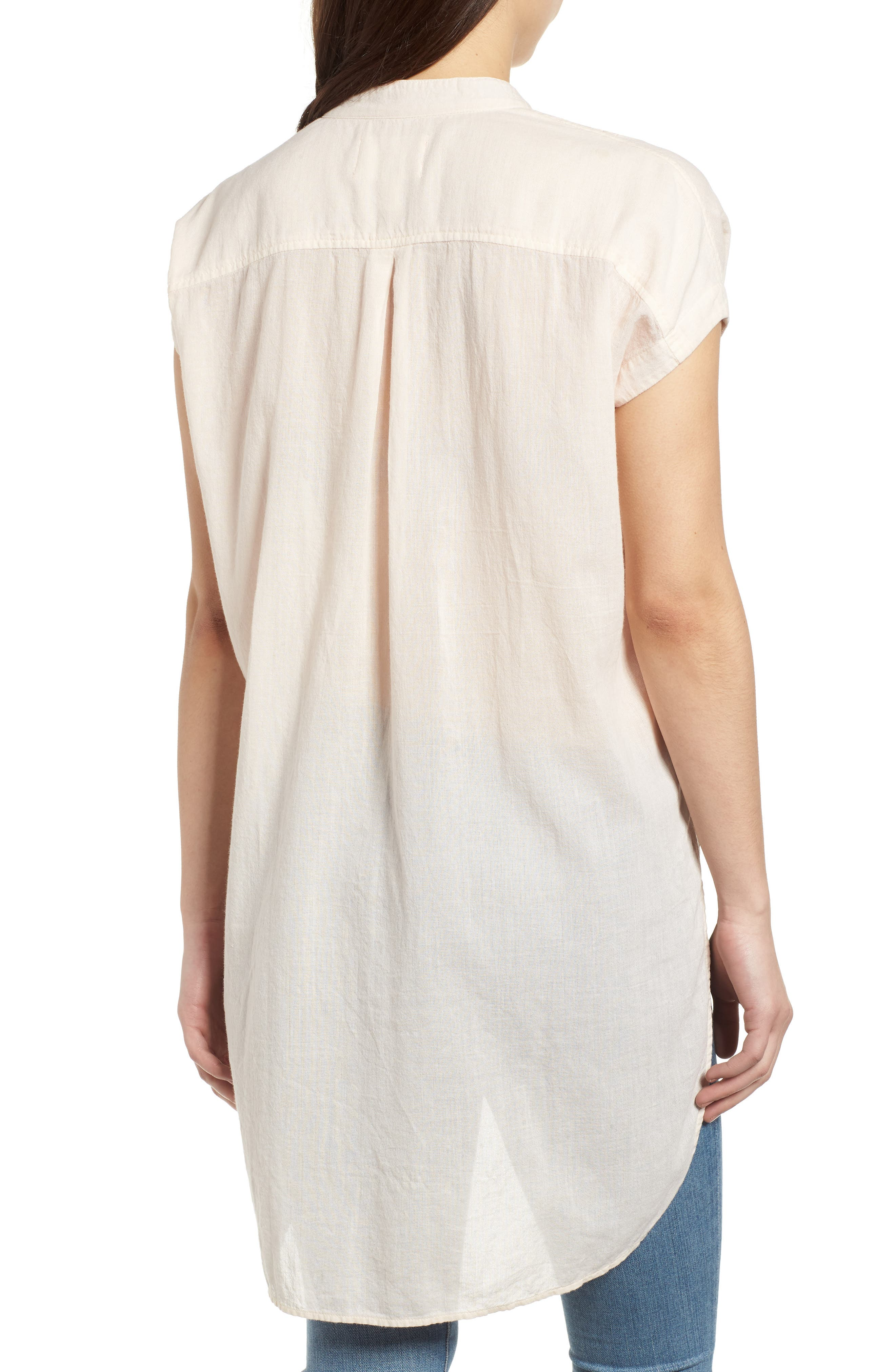 Button Front Longline Top,                             Alternate thumbnail 12, color,
