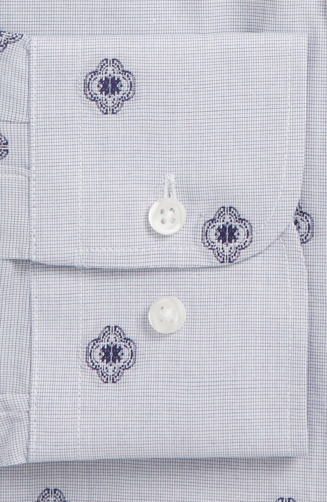 Trim Fit Medallion Dress Shirt,                             Alternate thumbnail 2, color,                             410