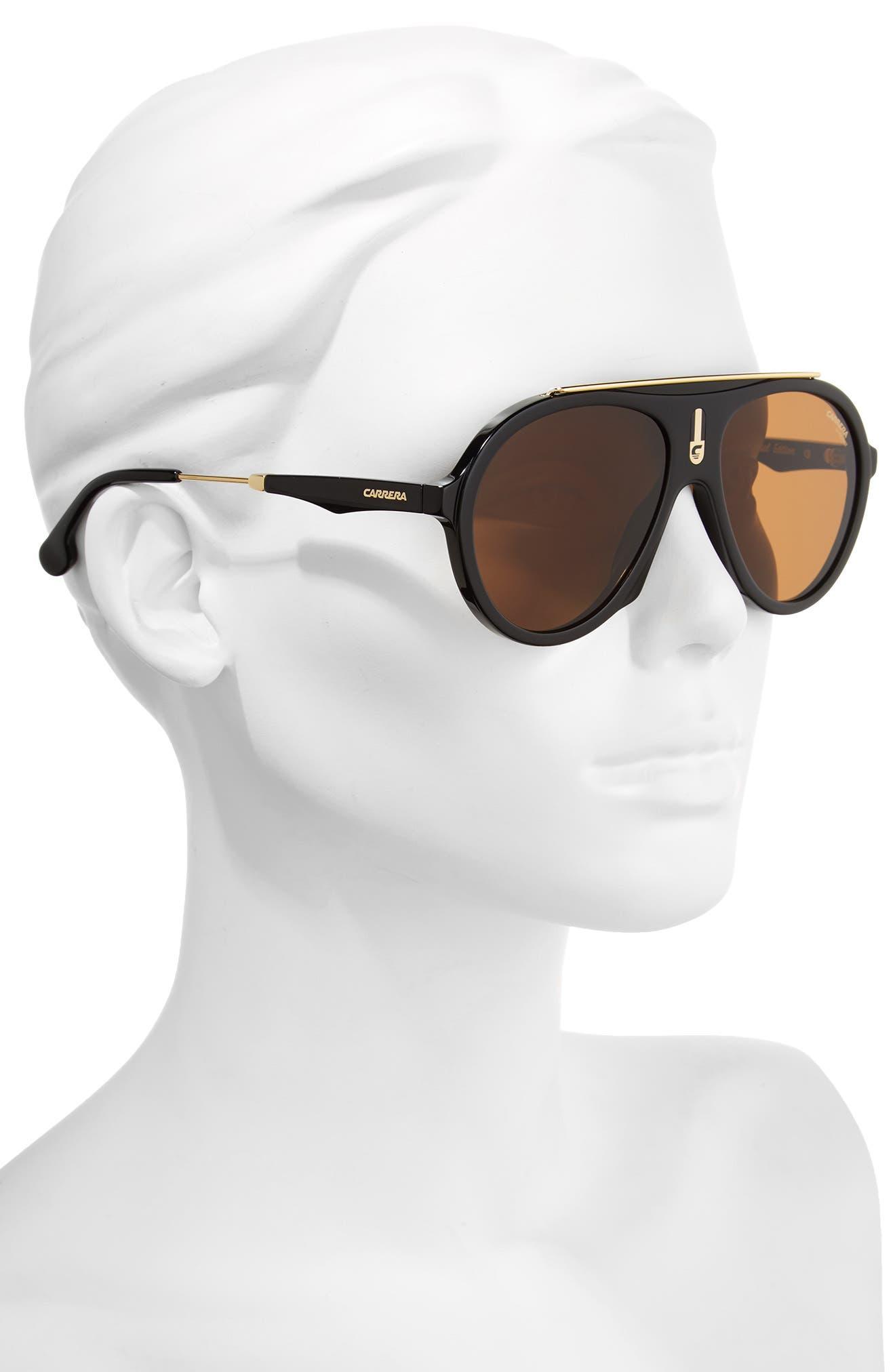 Carrera Flag 57mm Mirrored Pilot Sunglasses,                             Alternate thumbnail 8, color,