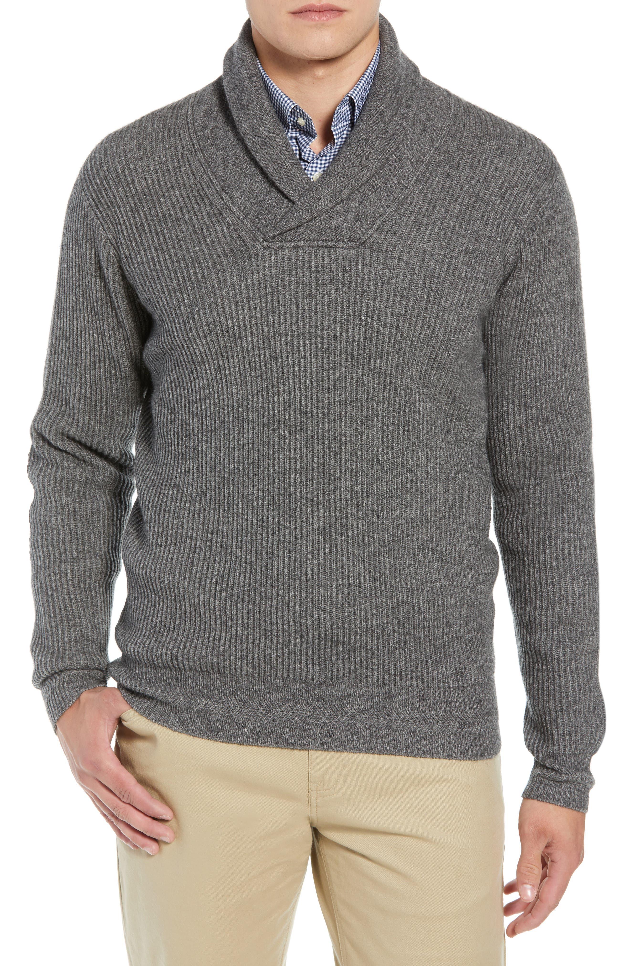Mountainside Wool Blend Shawl Sweater,                             Main thumbnail 1, color,                             GREY