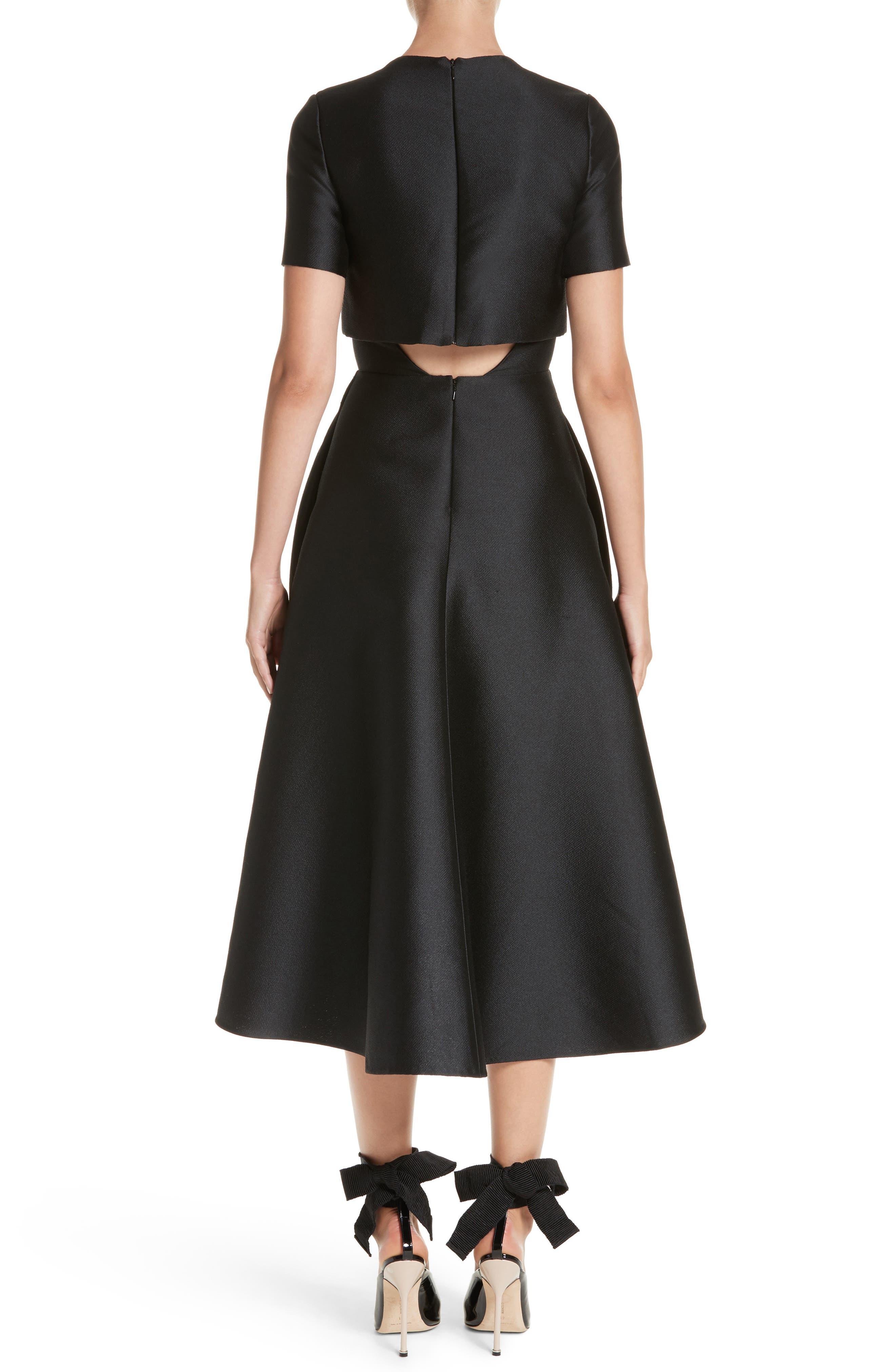 Popover Fit & Flare Dress,                             Alternate thumbnail 2, color,                             001