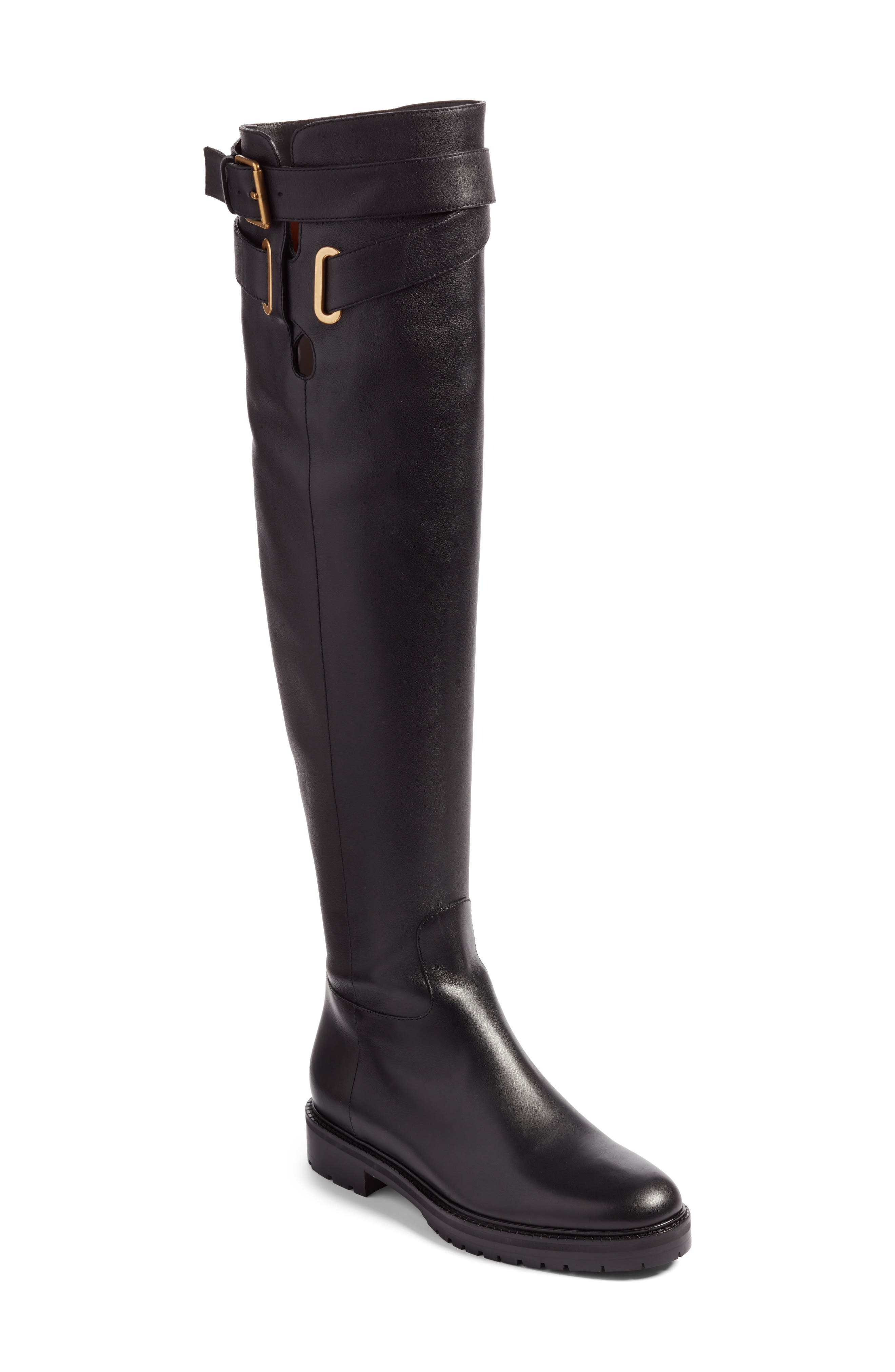 Bowrap Over the Knee Boot,                             Main thumbnail 1, color,                             001