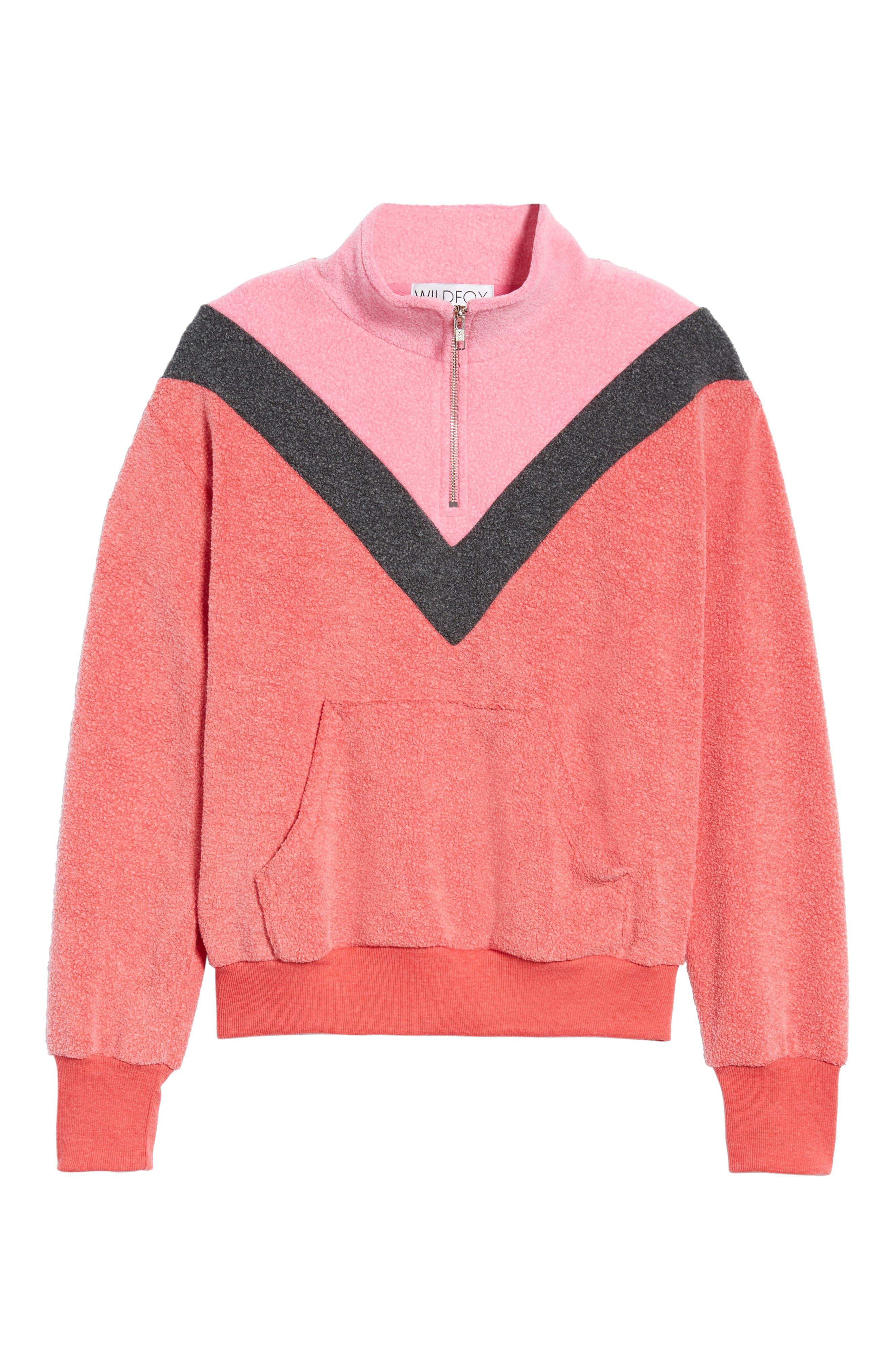 Soto Warm-Up Sweatshirt,                             Alternate thumbnail 6, color,                             SCARLET