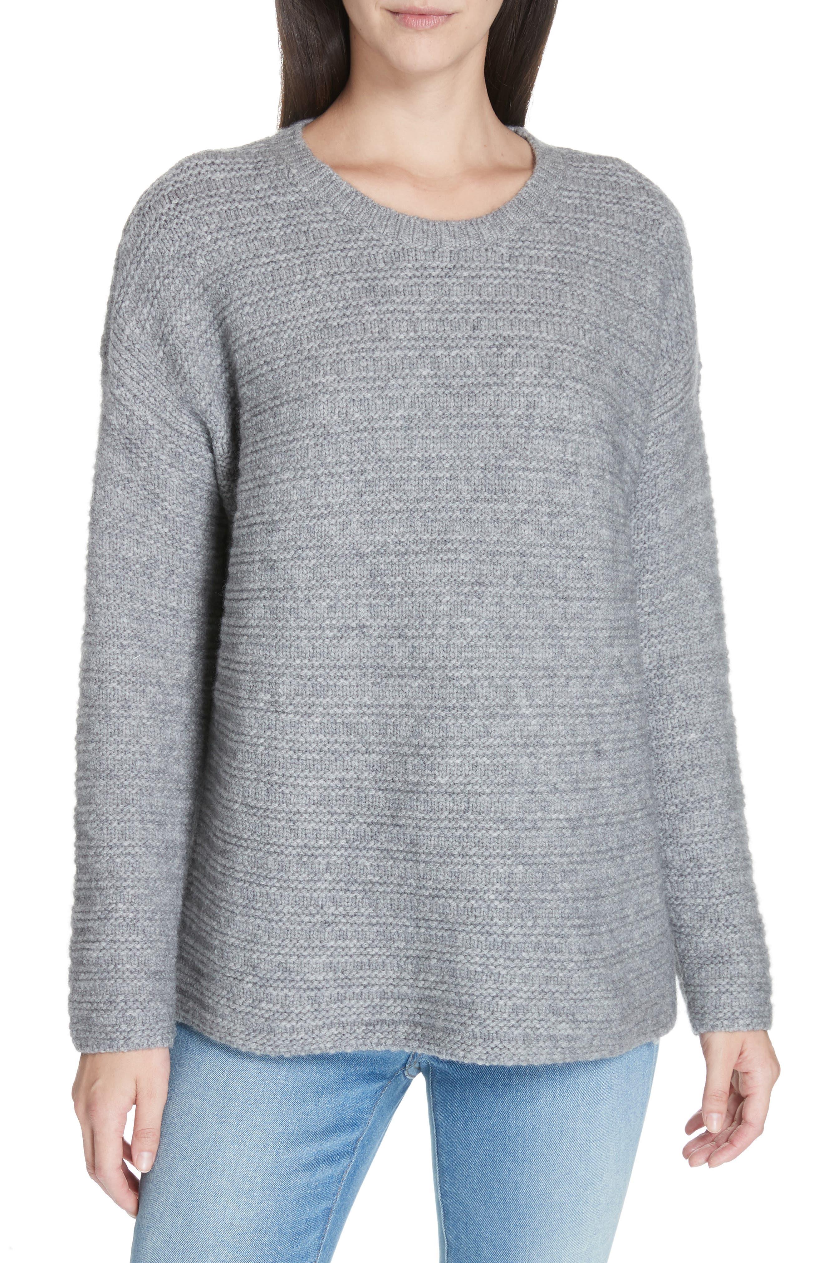 Eileen Fisher Wool Blend Pullover Sweater, Grey