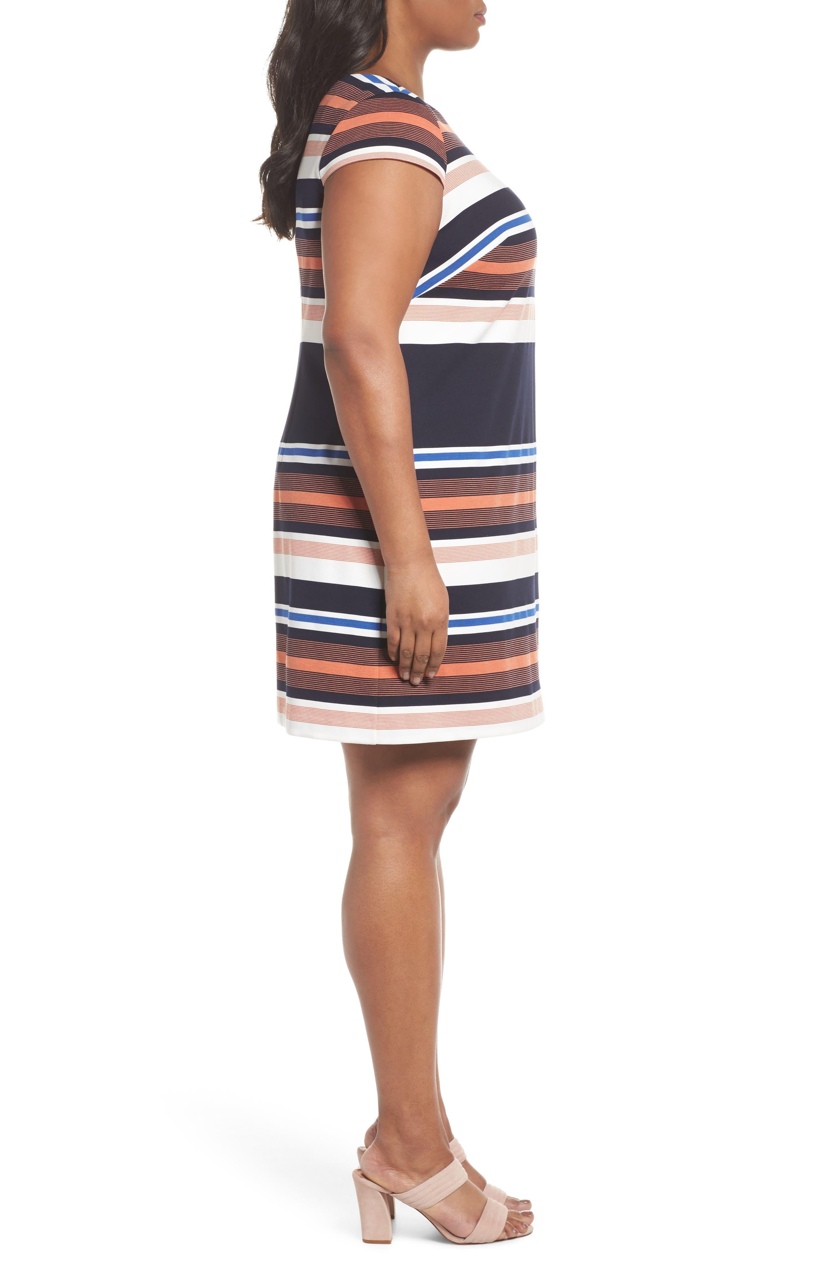 Stripe Shirtdress,                             Alternate thumbnail 3, color,                             474