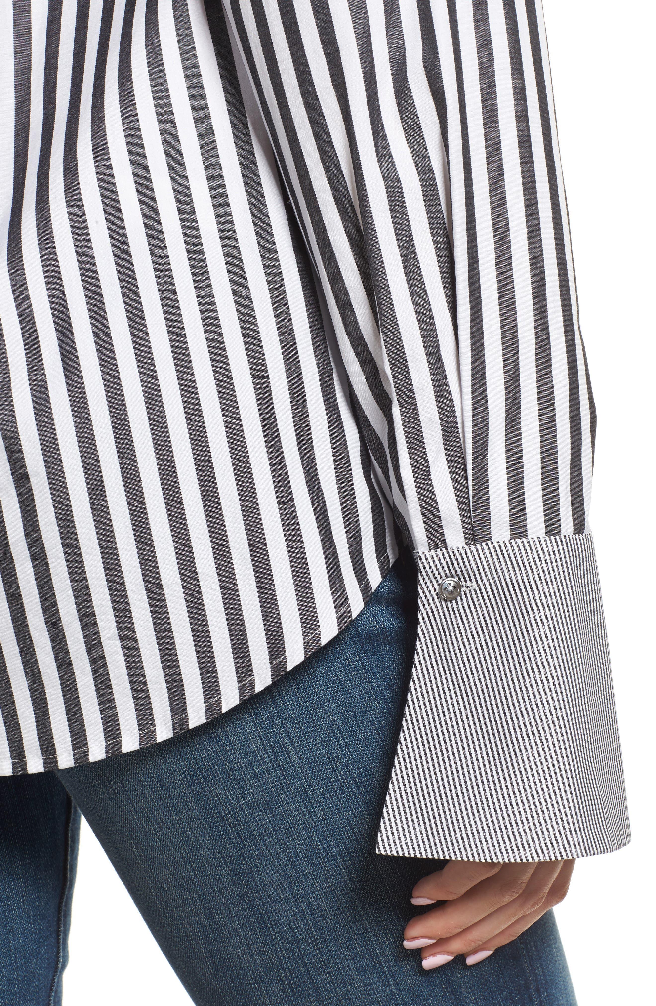 Famke Stripe Blouse,                             Alternate thumbnail 4, color,                             015