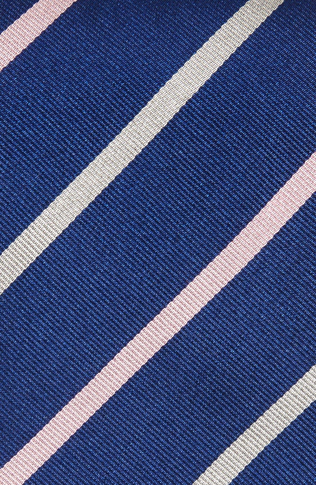 Stripe Silk Tie,                             Alternate thumbnail 2, color,                             NAVY