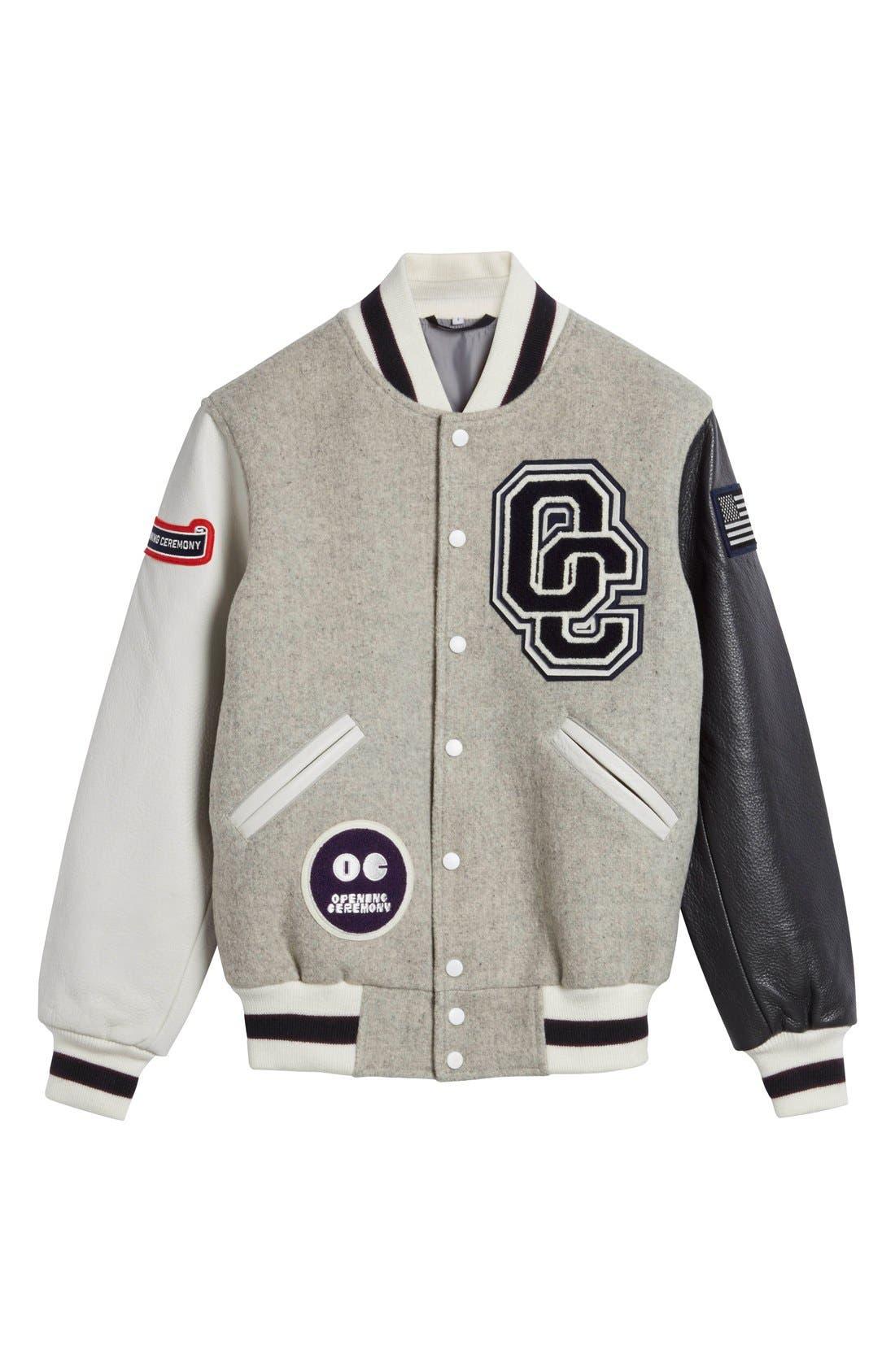 'OC Classic' Varsity Jacket,                             Alternate thumbnail 6, color,