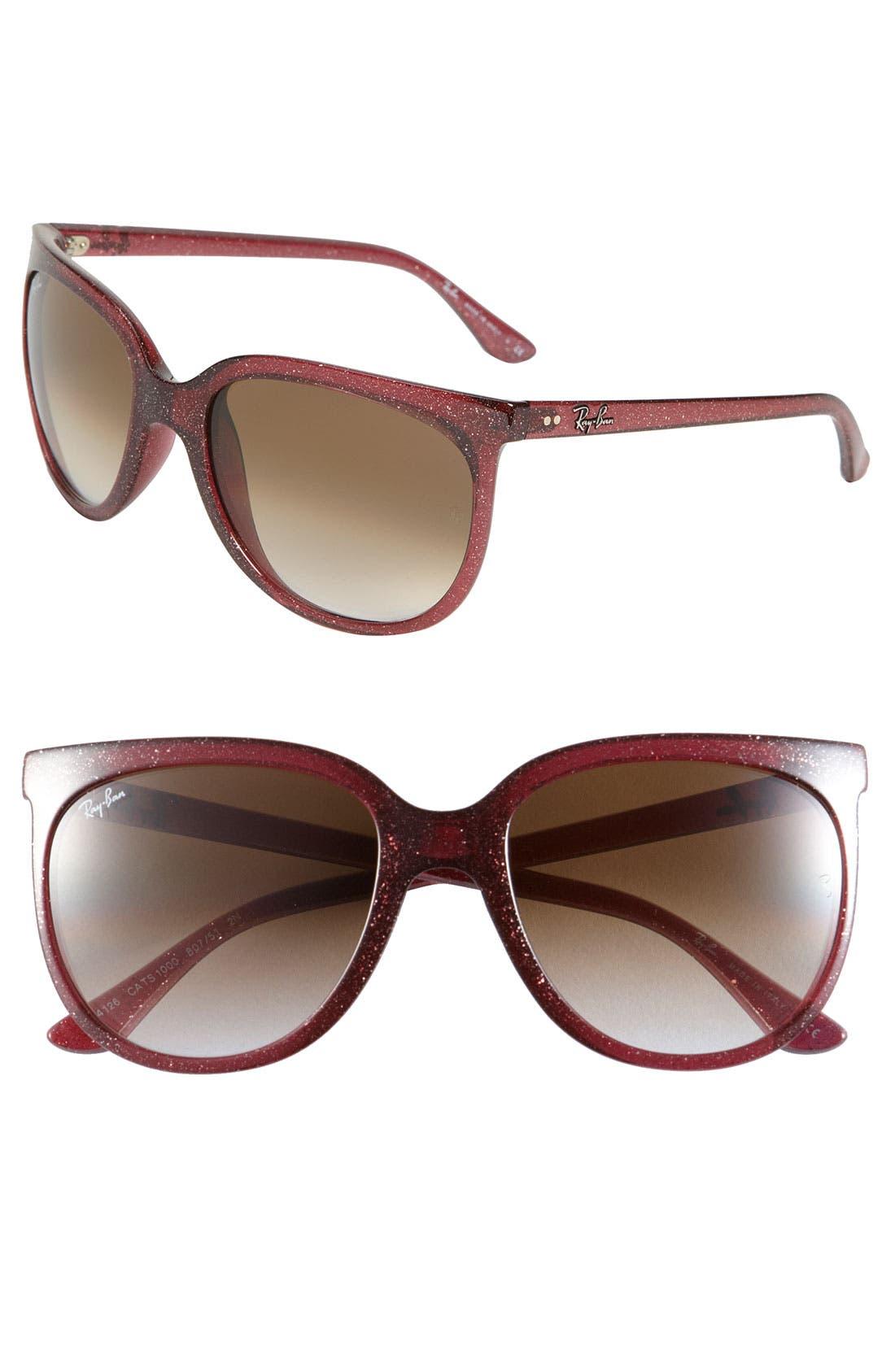 Retro Cat Eye Sunglasses,                             Main thumbnail 9, color,