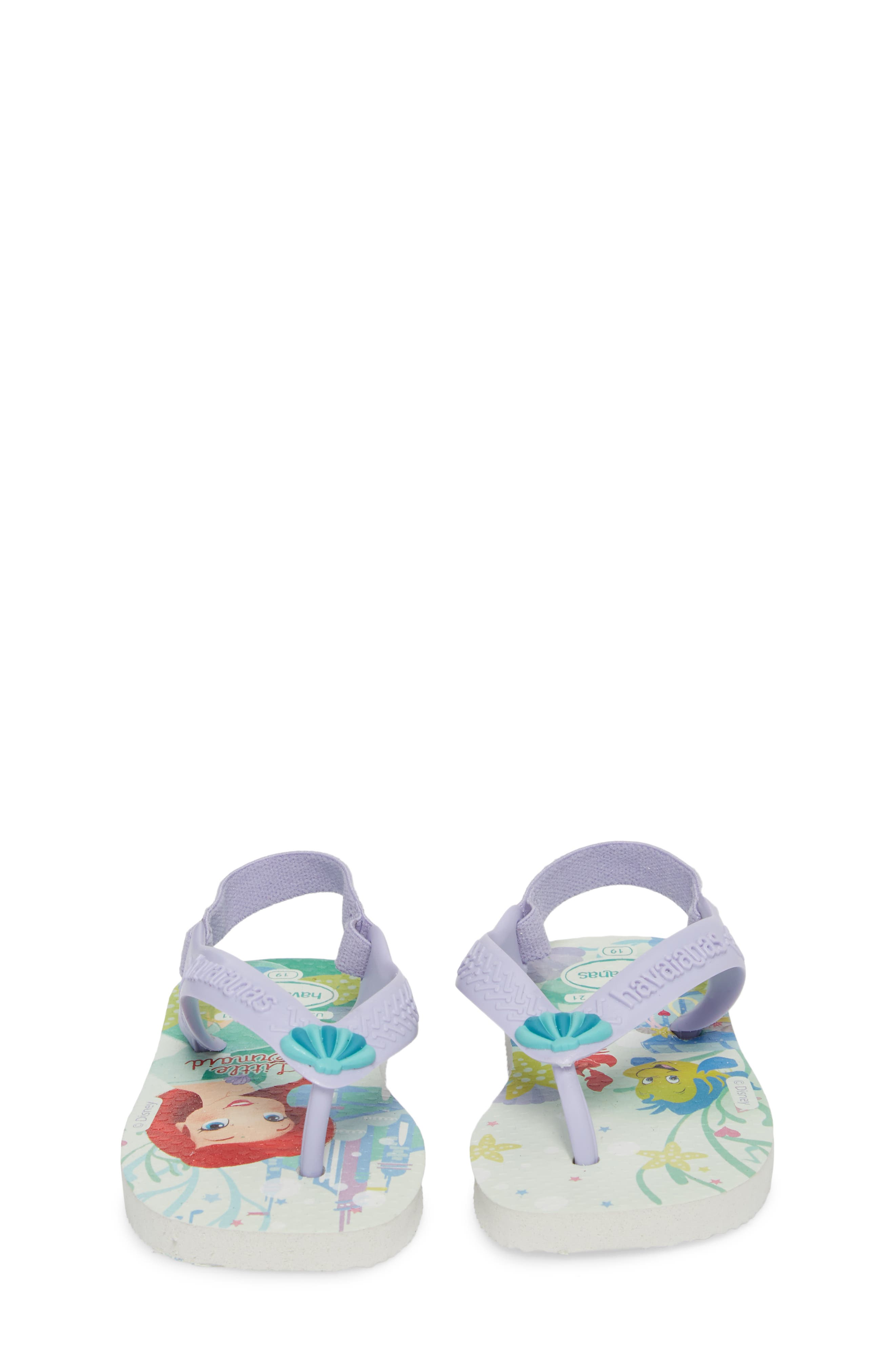 Baby Disney<sup>®</sup> Princess Flip Flop,                             Alternate thumbnail 5, color,                             100