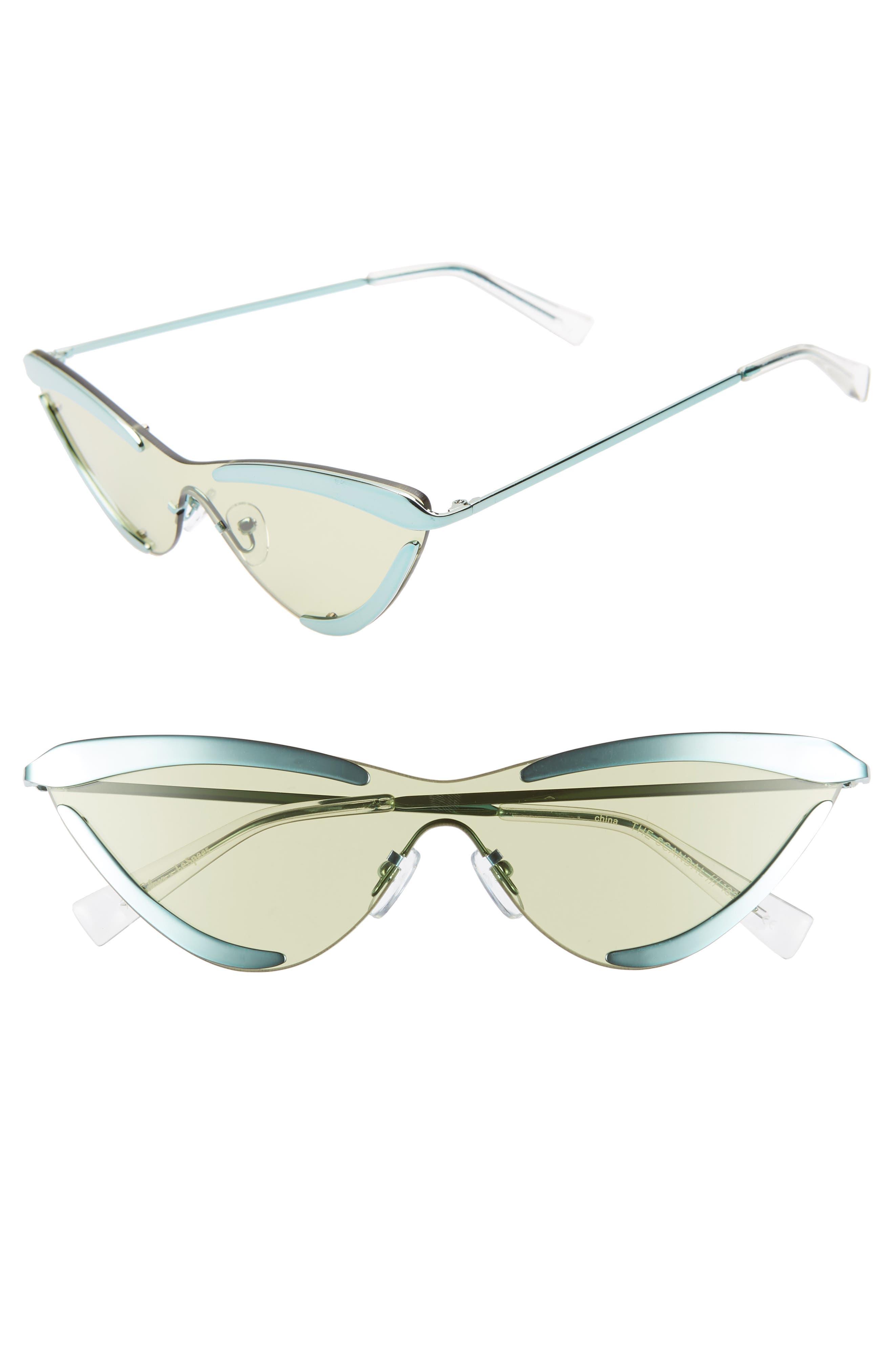 Adam Selman X Le Specs Luxe The Scandal 142Mm Cat Eye Sunglasses - Aqua