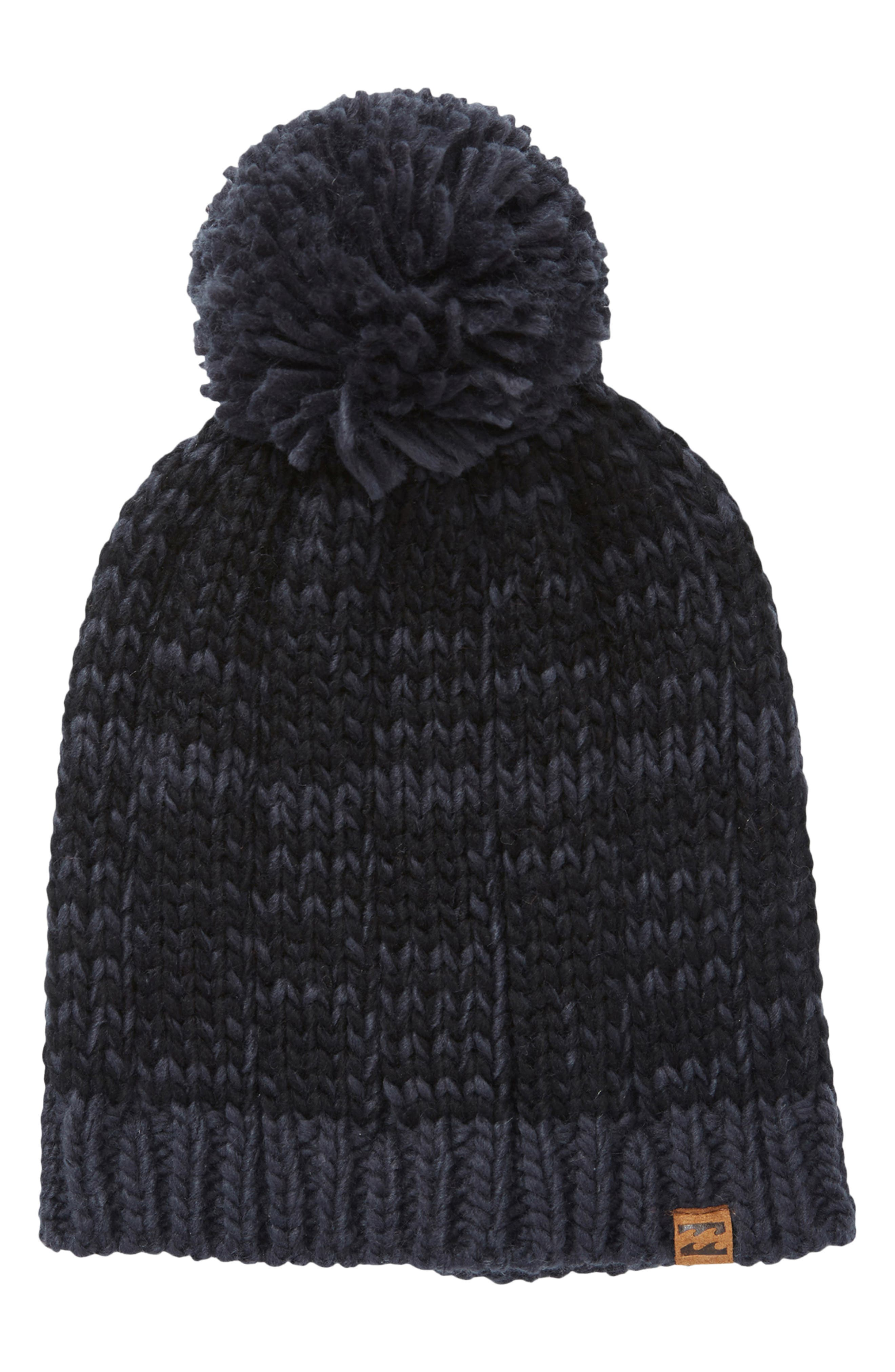 Chill Out Pompom Beanie,                             Main thumbnail 1, color,                             BLUE INK