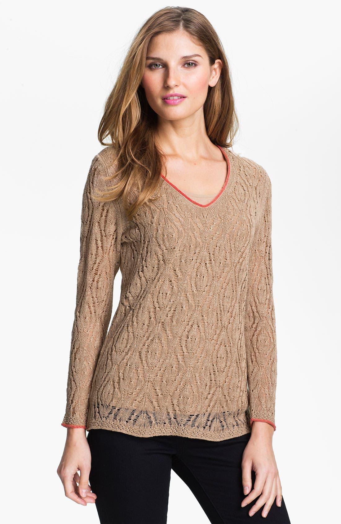 Nic + Zoe 'Starfish' Sweater, Main, color, 250