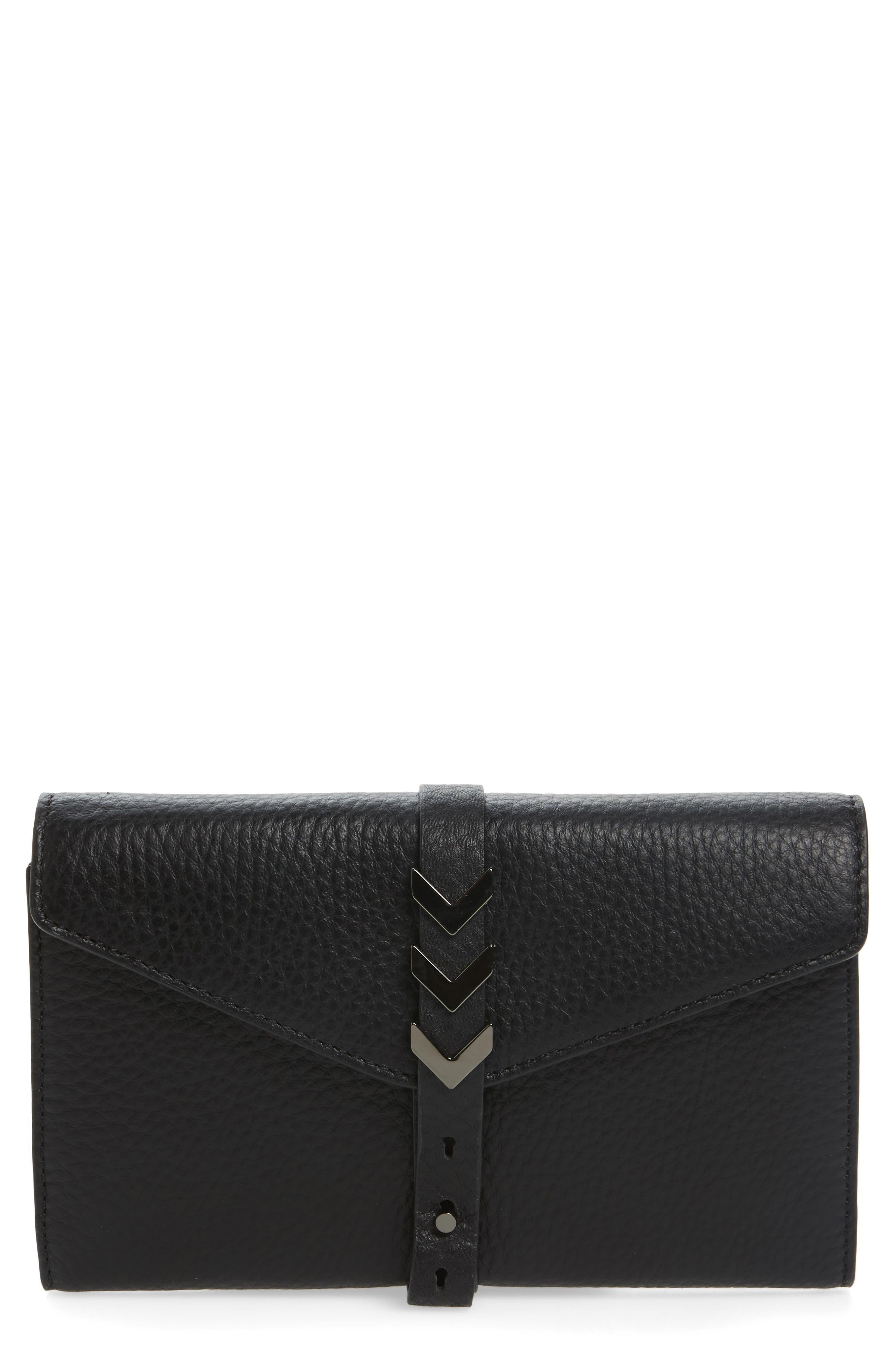Atlas Leather Envelope Wallet,                             Main thumbnail 1, color,                             001