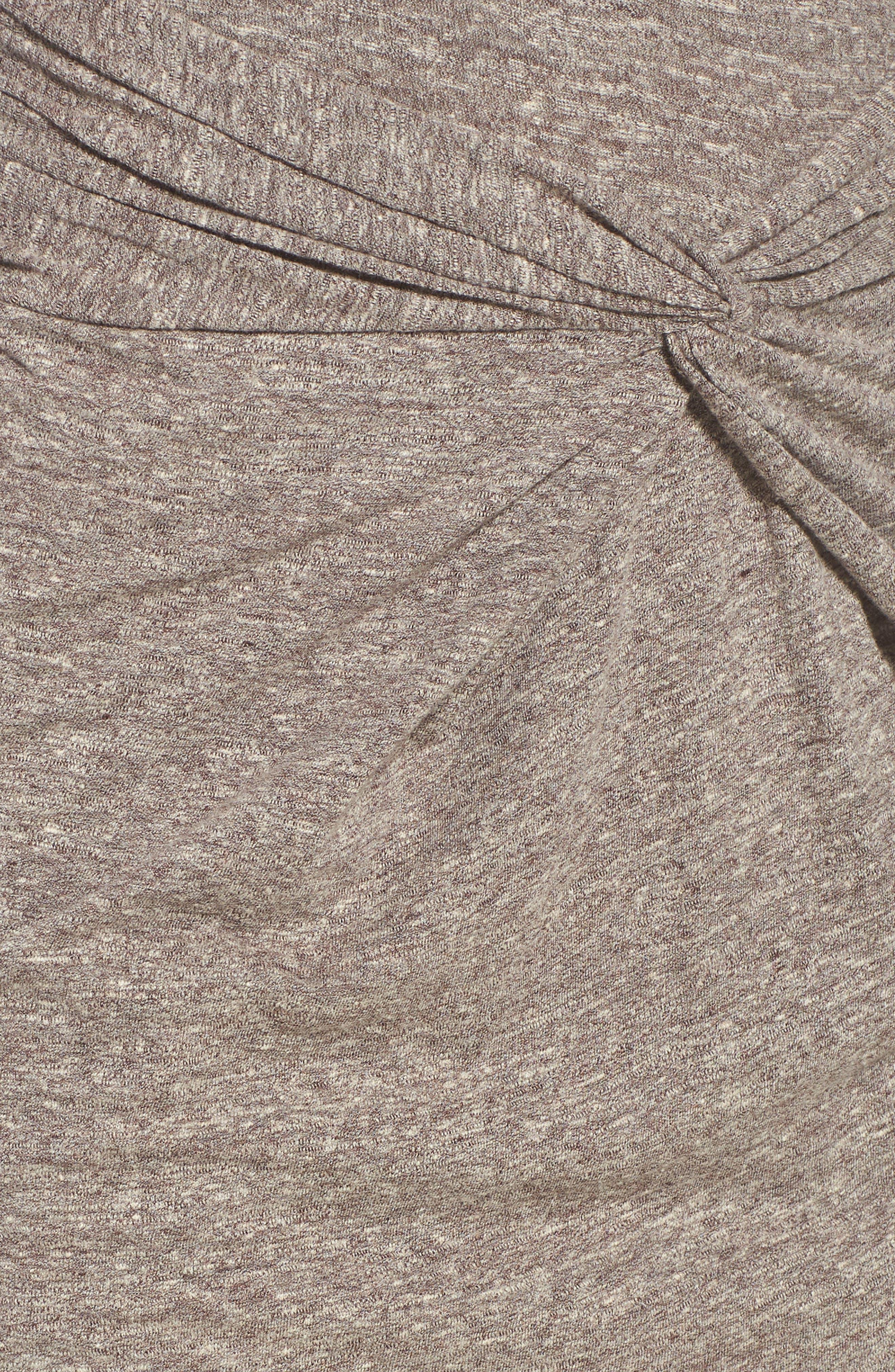 Knot Front Skirt,                             Alternate thumbnail 5, color,                             GREY MEDIUM HEATHER