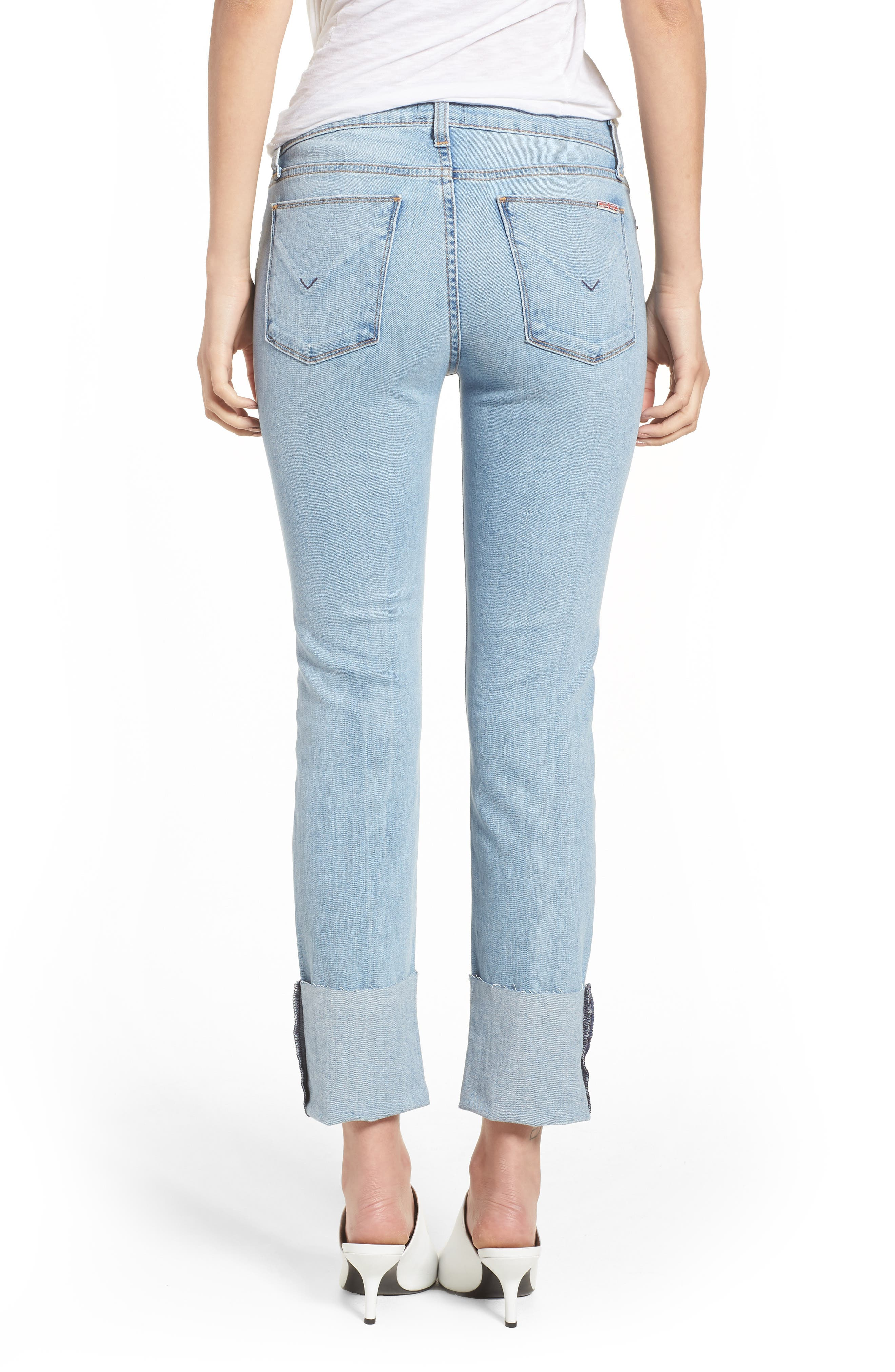 Tally Cuffed Crop Skinny Jeans,                             Alternate thumbnail 7, color,