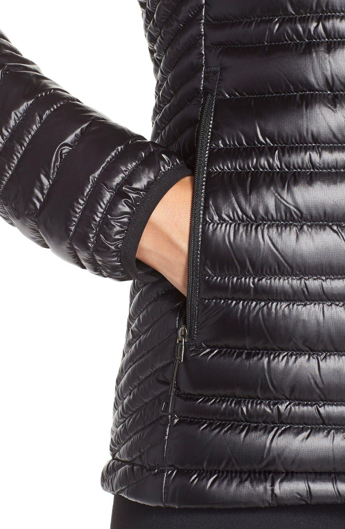PATAGONIA,                             'Ultralight' Down Puffer Jacket,                             Alternate thumbnail 4, color,                             BLACK